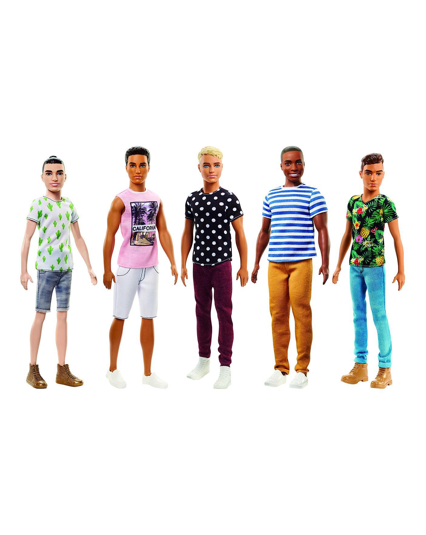 Homemade Doll Clothes-Campfires Print Shirt that fits Ken Doll B4