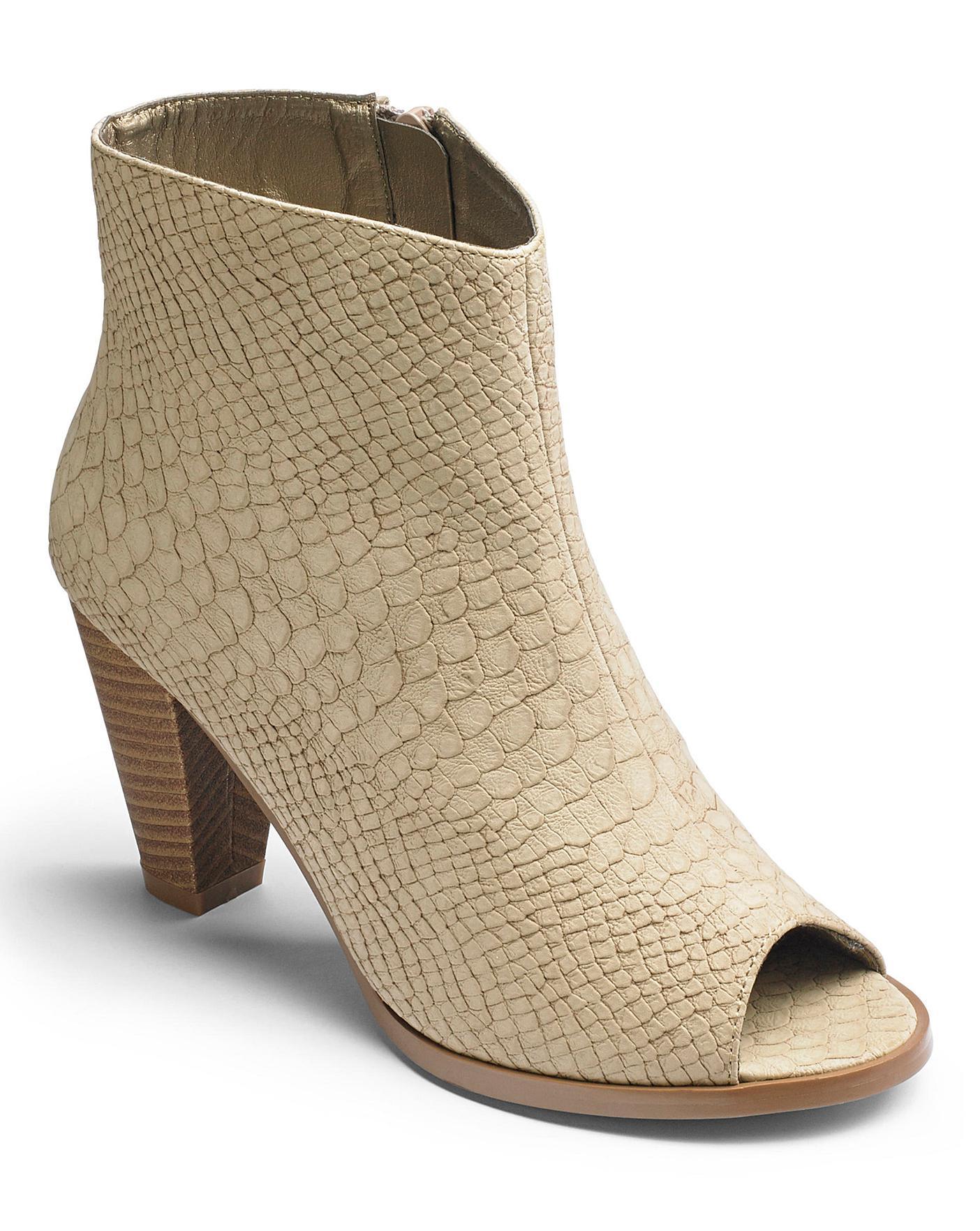 16fbe2a44d4 Sole Diva Peep Toe Shoe Boots E Fit