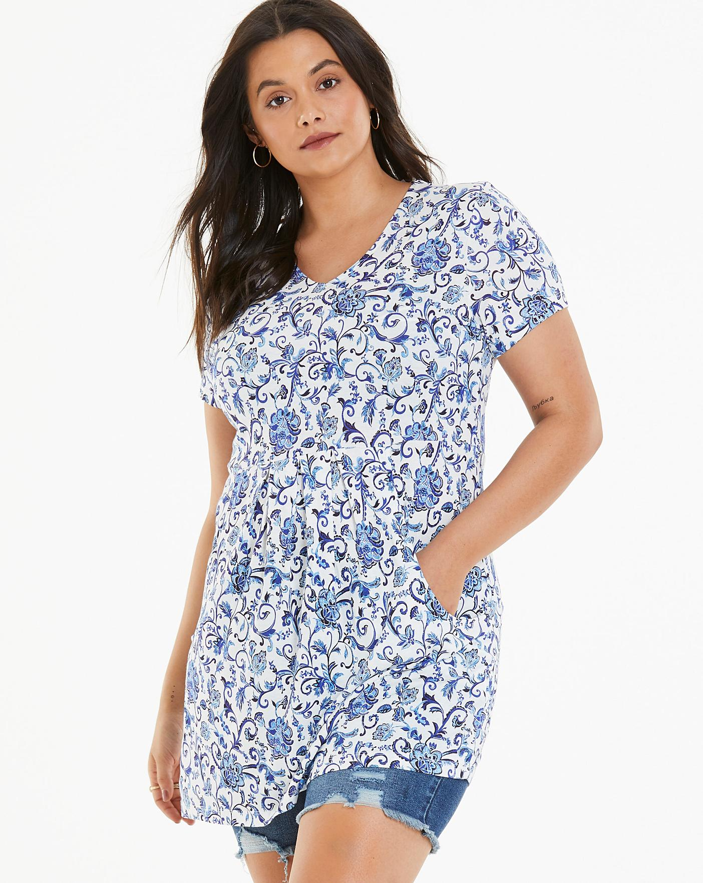cff3ed6ab4f48 Joe Browns Delightful Floral Tunic | Simply Be