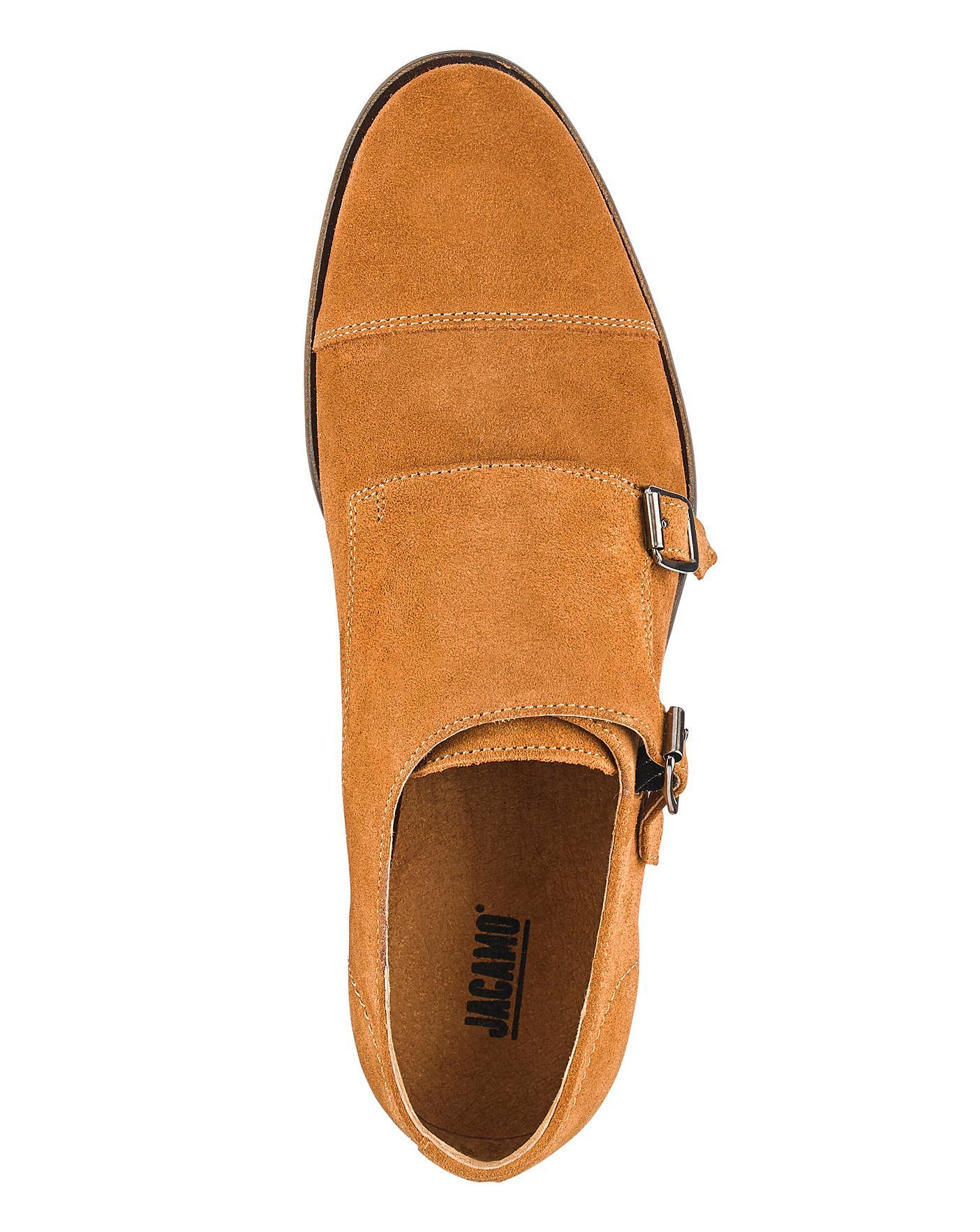 36a47e47f51a0 Description. Jacamo Premium Suede Monk Shoes
