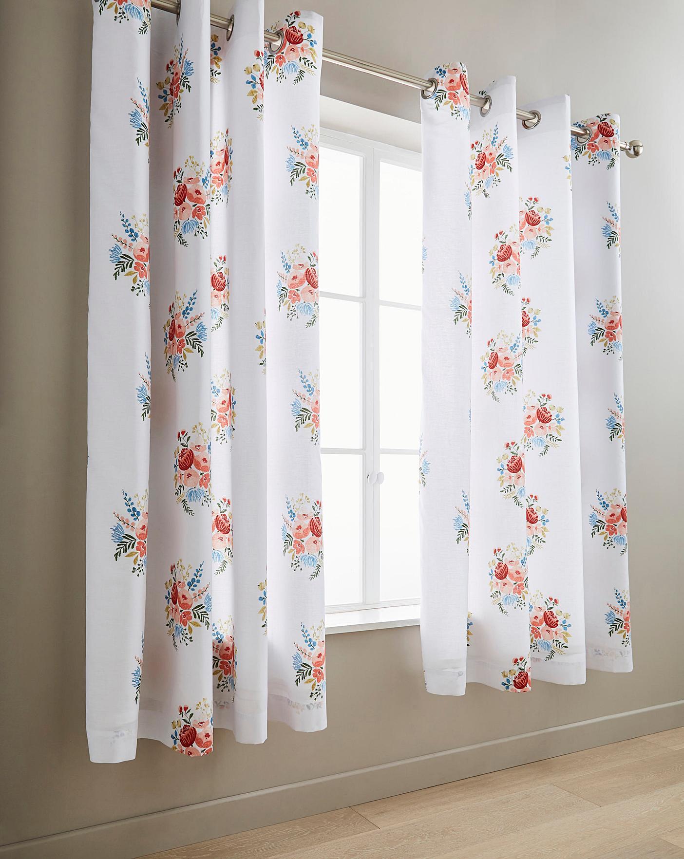 Pom Pom Floral Curtains Marisota