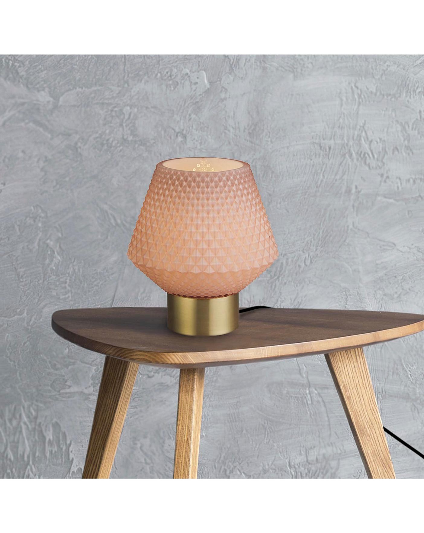 Mia Blush Pink Table Lamp Oxendales