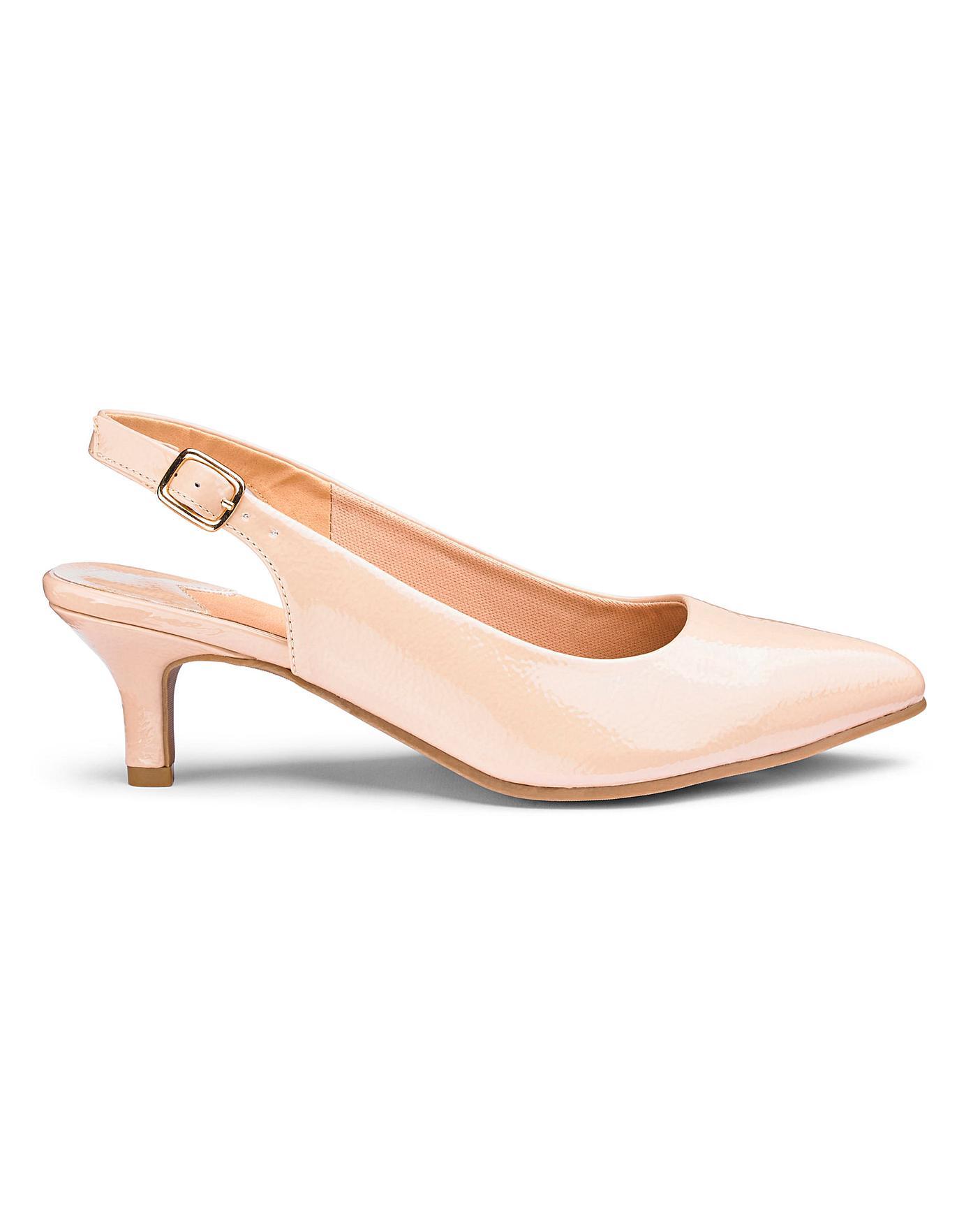 376753570f6 Flexi Sole Kitten Heel Shoes E Fit   Simply Be