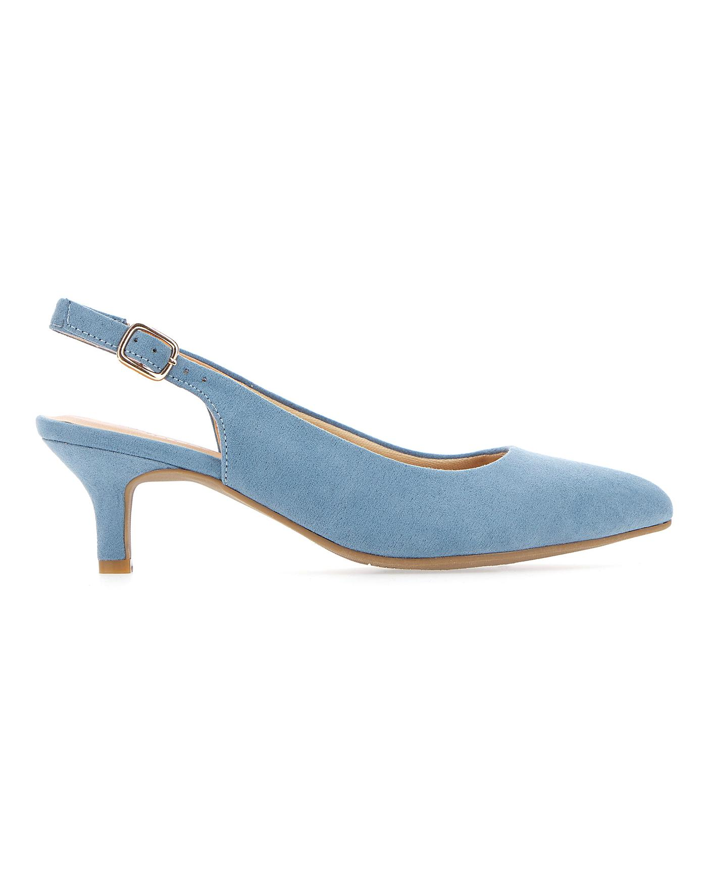 new lower prices purchase cheap first look Flexi Sole Kitten Heel Shoes EEE Fit | Simply Be