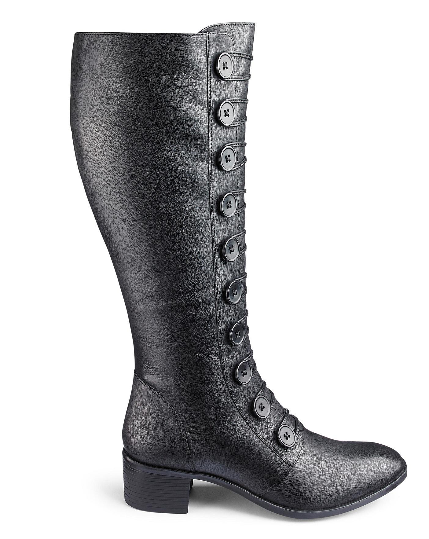 Lotus Spindle Boots EEE Curvy Plus Calf