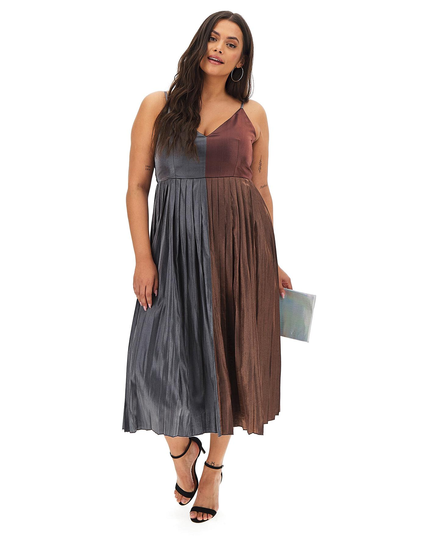 thoughts on sale uk new images of Little Mistress Metallic Midi Dress   Simply Be