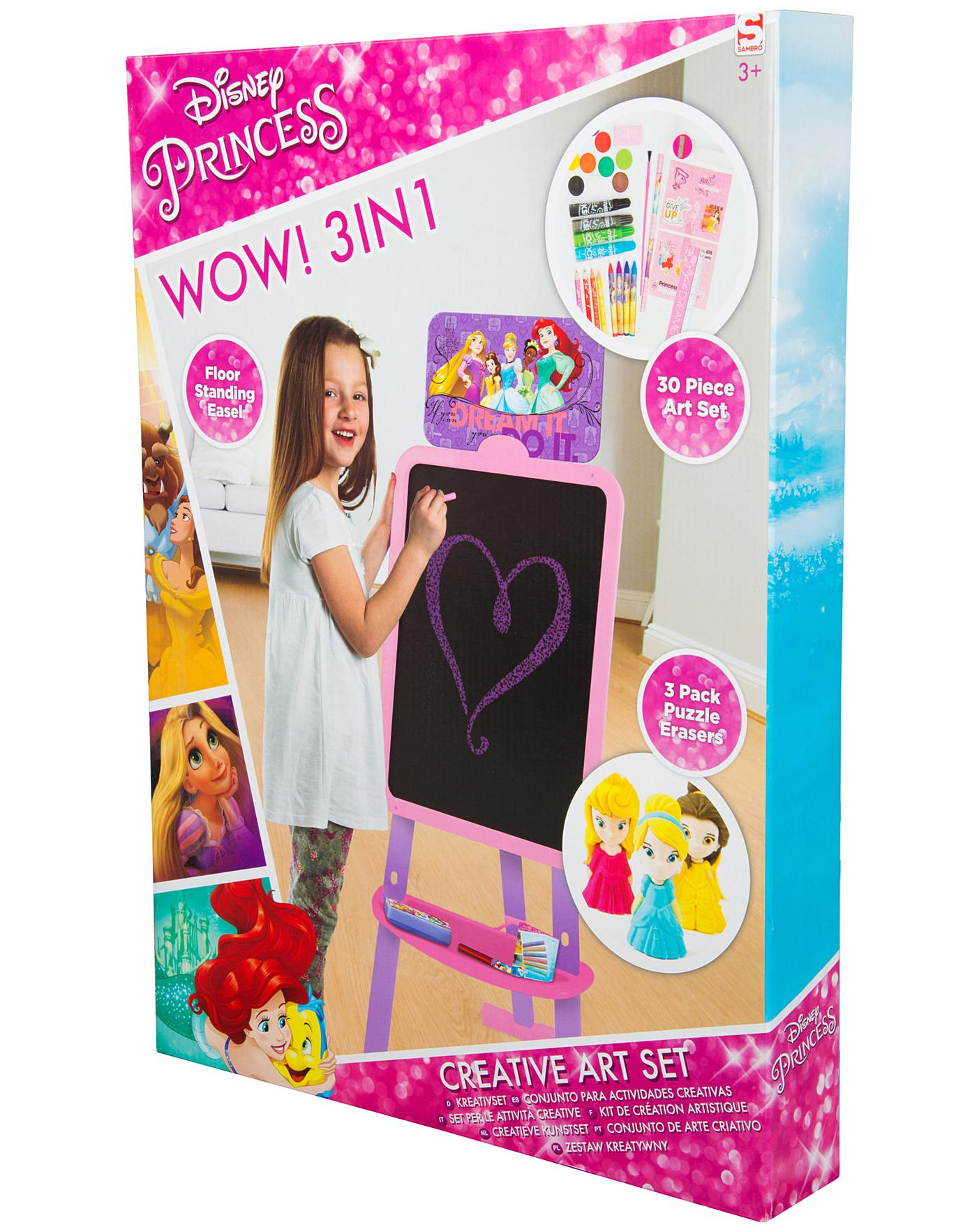 CREATIVE ART SET DISNEY PRINCESS FLOOR STANDING EASEL