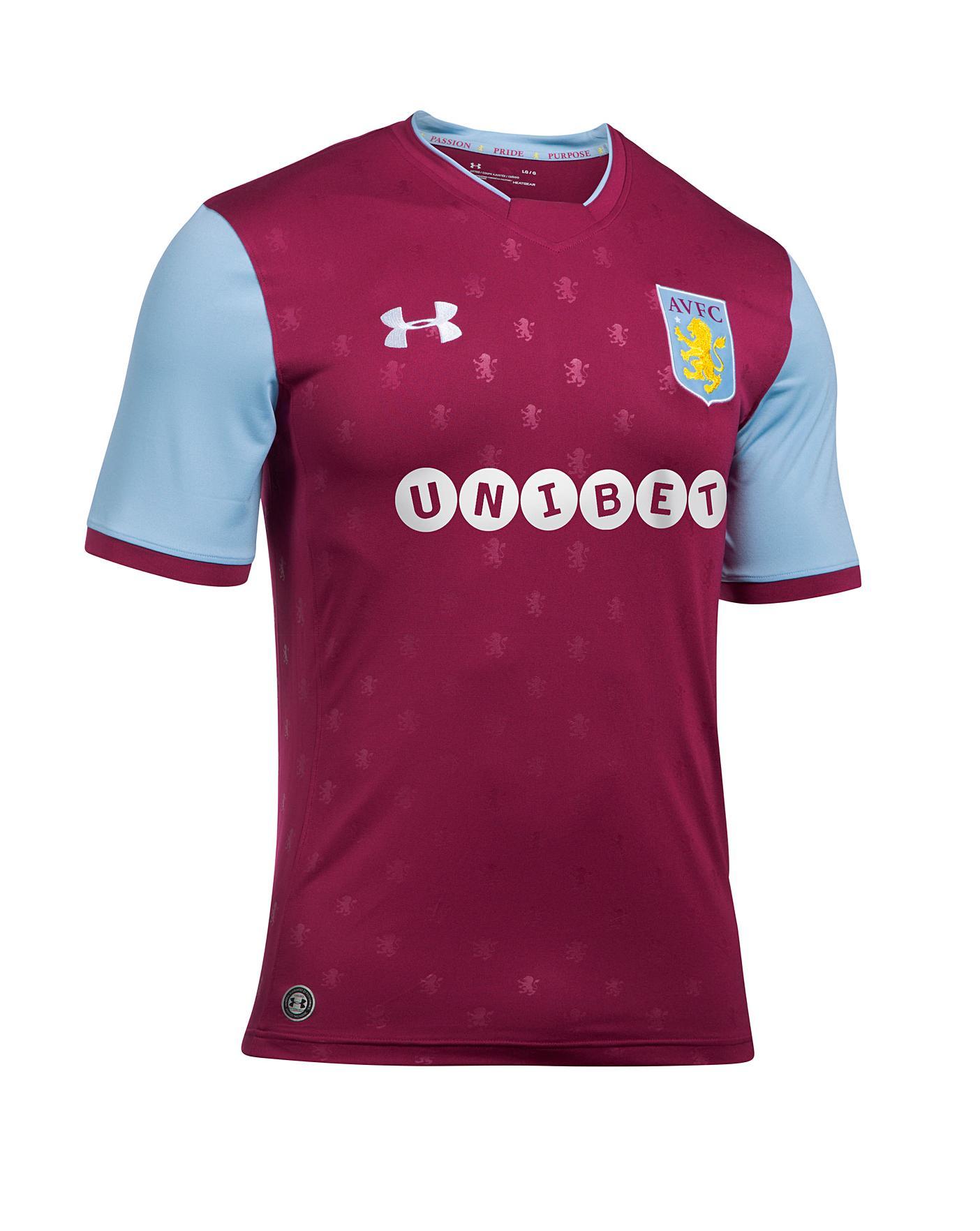 Primer ministro Pesimista texto  Under Armour Aston Villa Home Shirt | Marisota