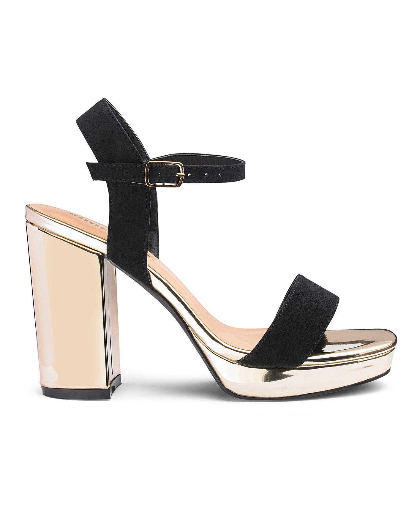 8af6e1ce78d46 Mia Platform Block Heel Wide Fit | Simply Be
