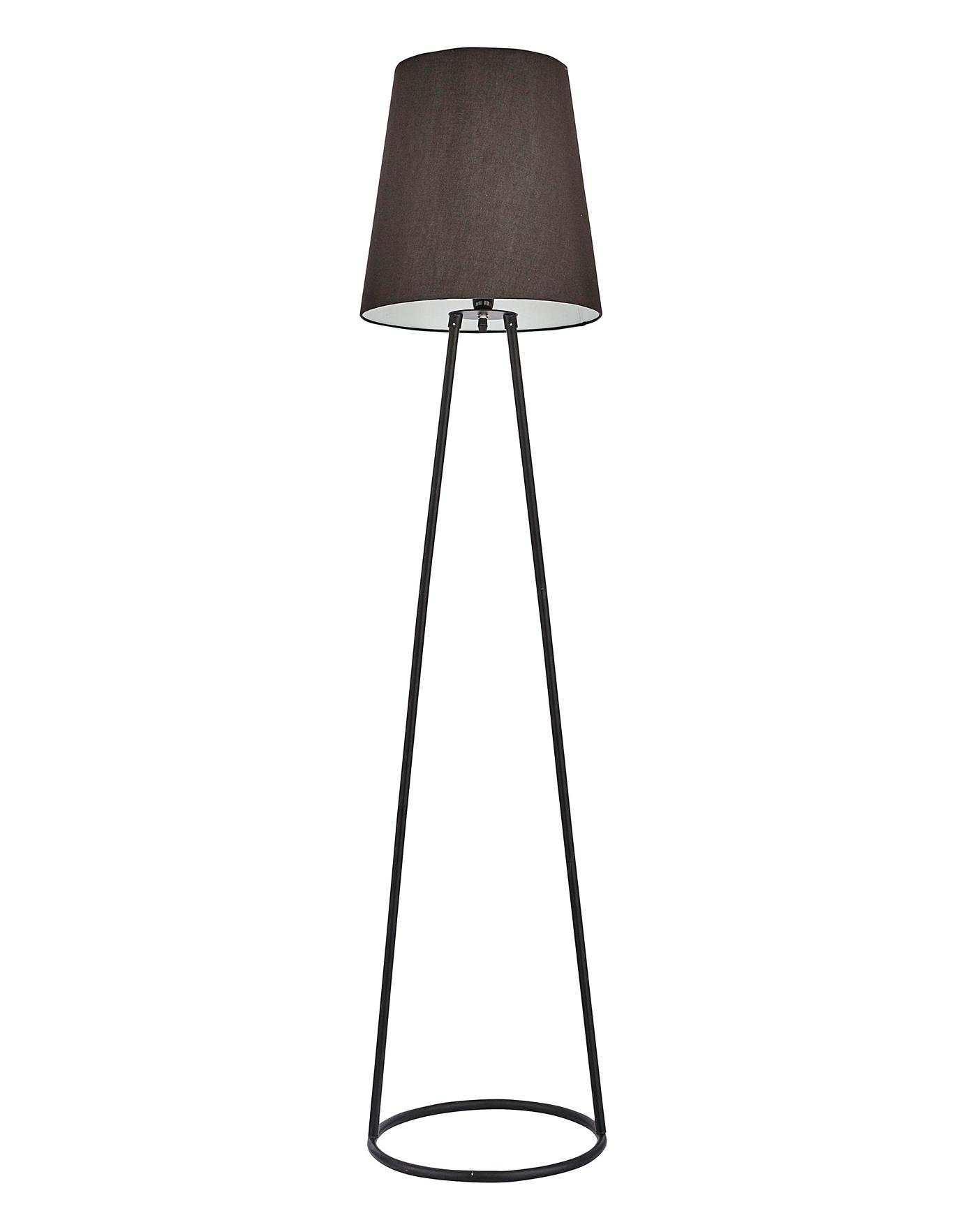 Description The Black Wire Floor Lamp