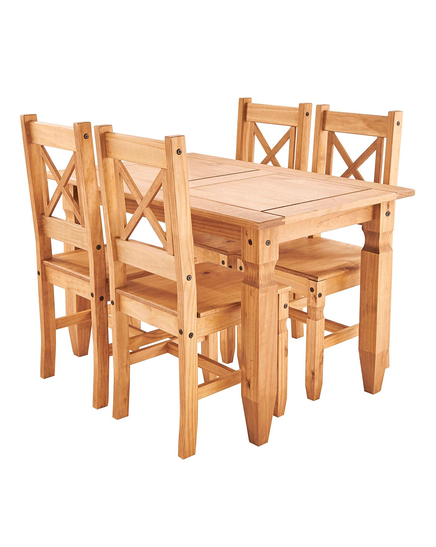 Corona Pine Dining Table And 4 Chairs
