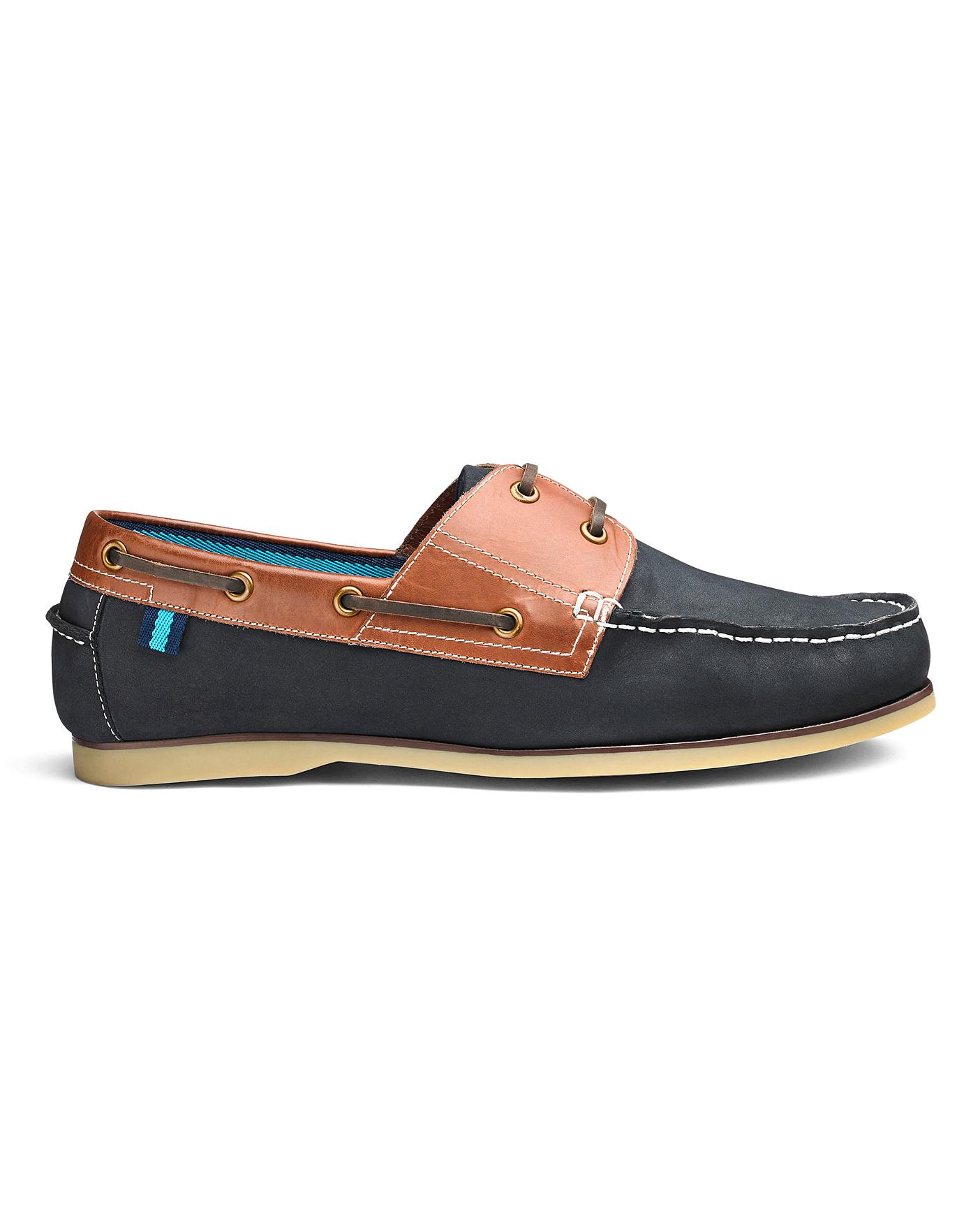 new collection buying cheap wholesale online Leather Boat Shoes Wide Fit