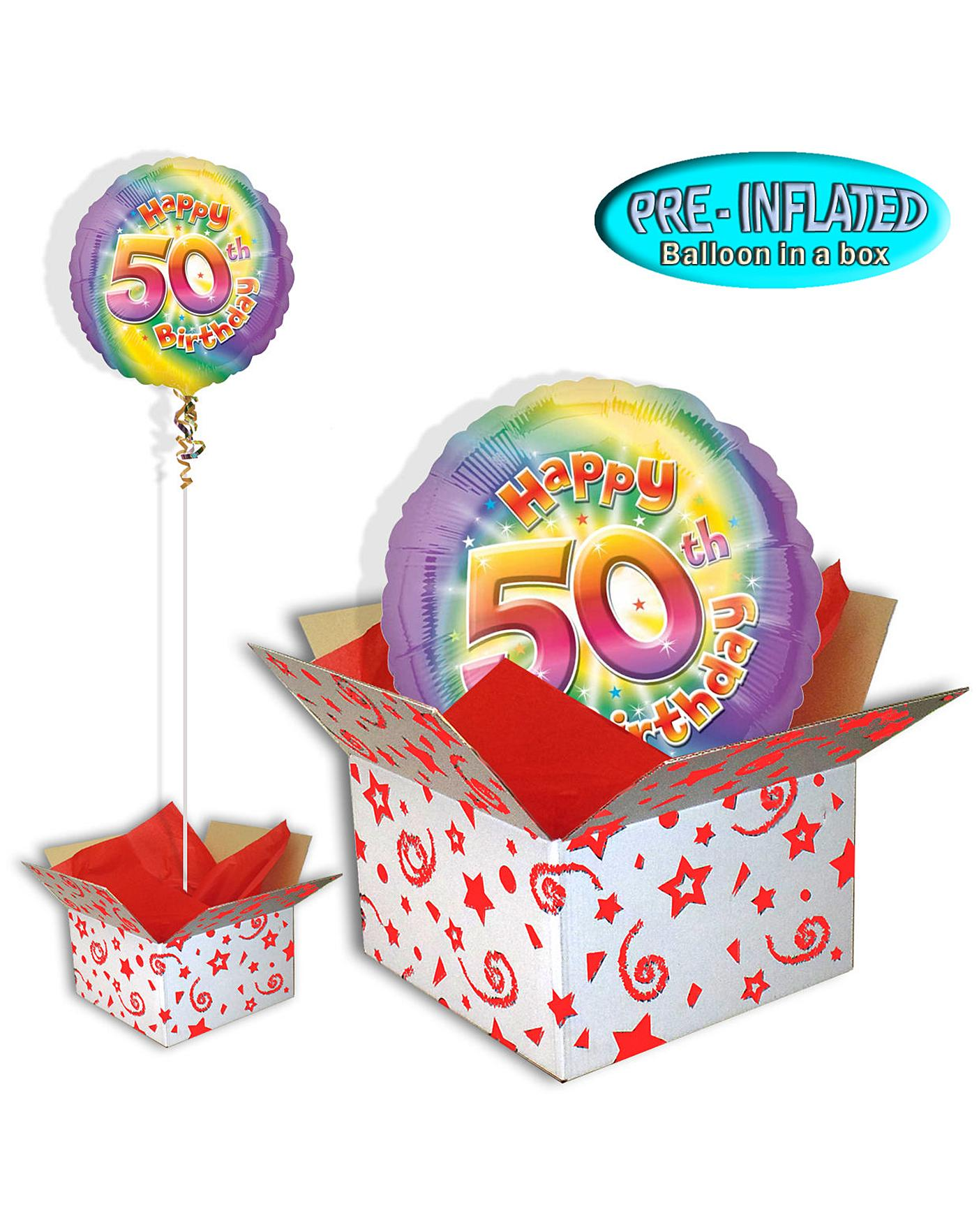 Happy 50th Birthday Balloon In A Box