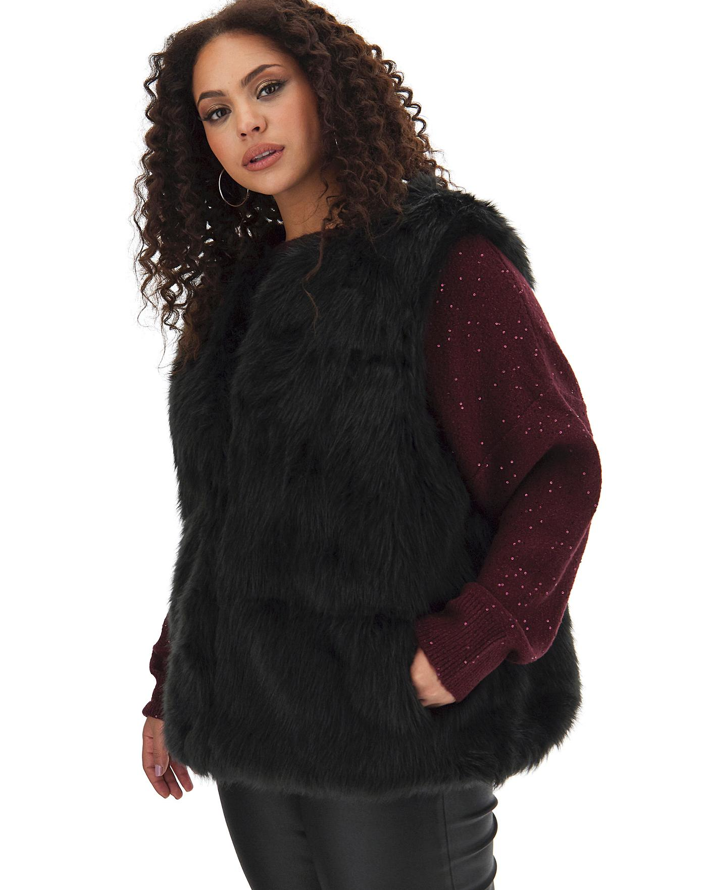 Oasis Curve Faux Fur Gilet