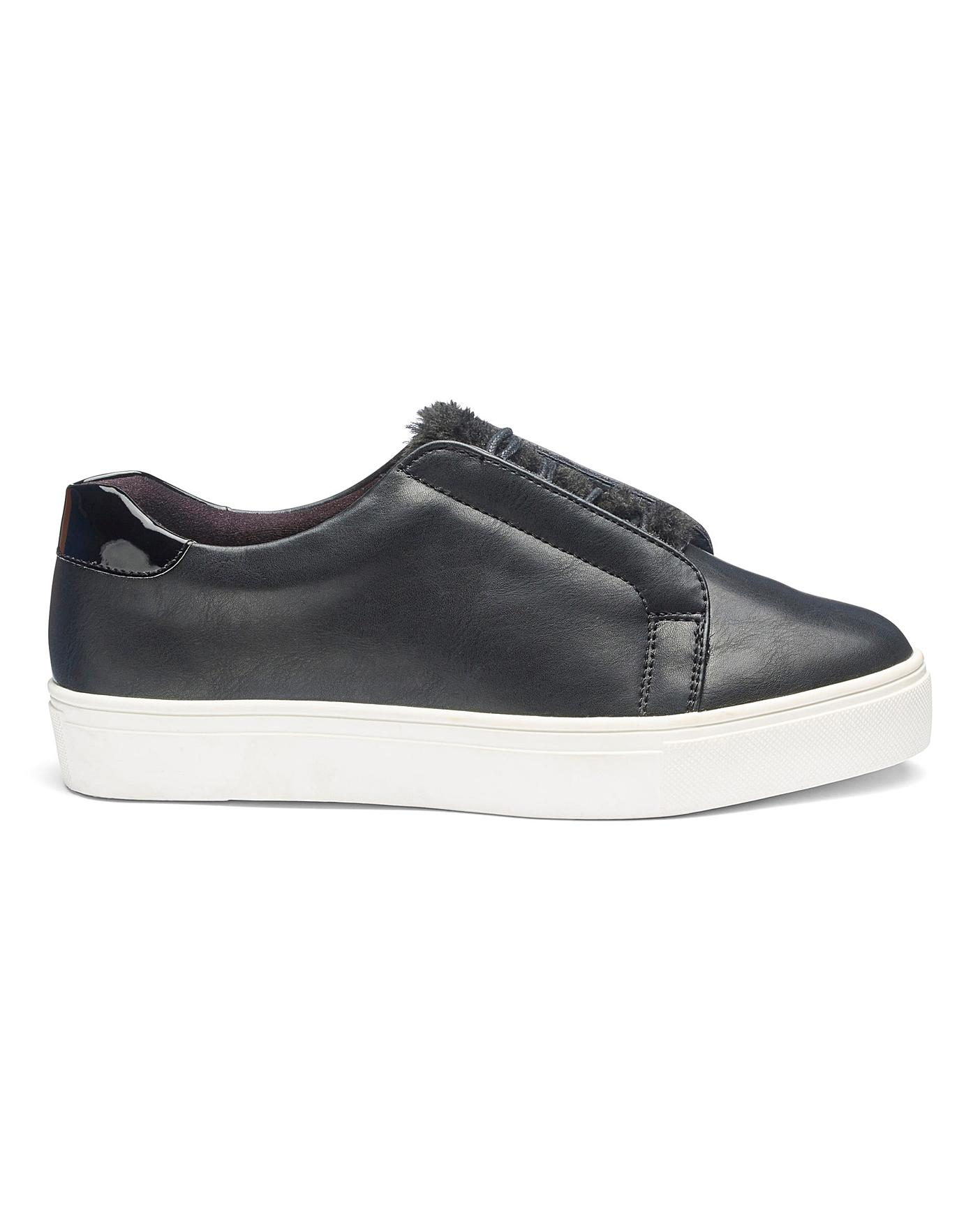 Marlow Faux Fur Trainers E Fit | Oxendales