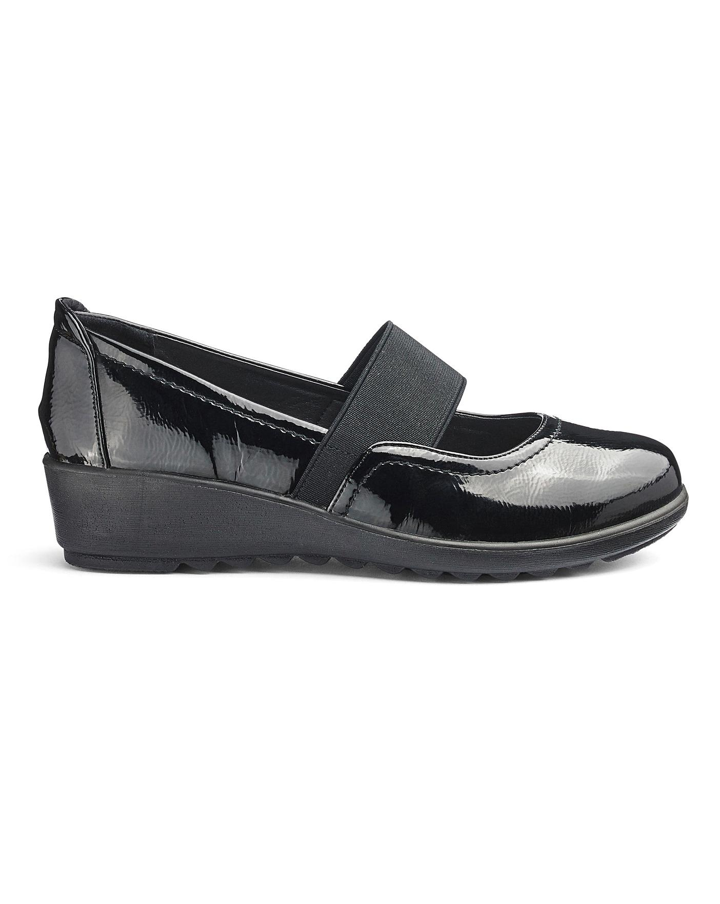 to buy to buy popular brand Cushion Walk Bar Shoes EEE Fit | J D Williams