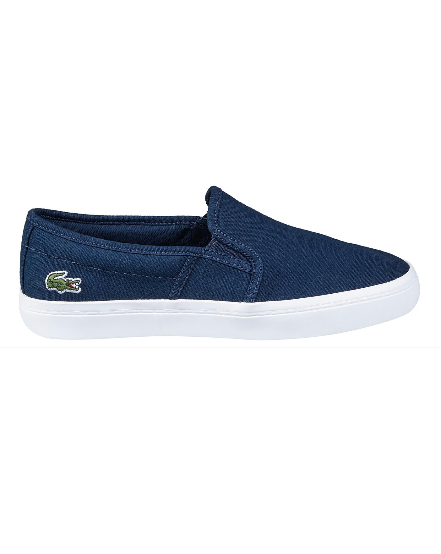 Lacoste Gazon Slip On Trainers | Simply Be