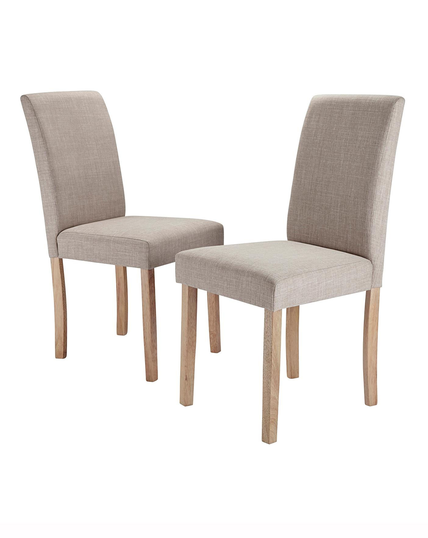 mia fabric pair of dining chairs  j d williams