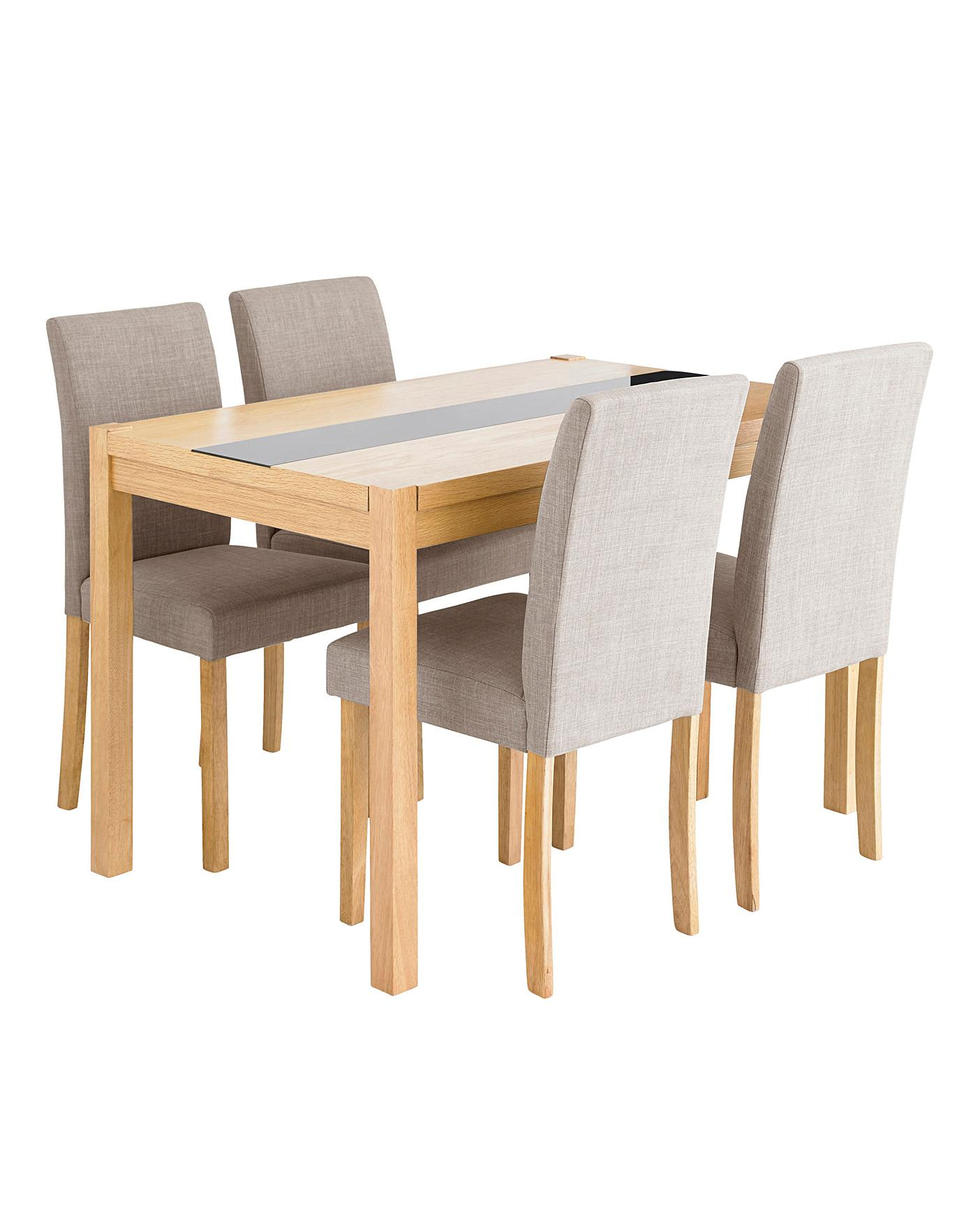 Super Oakham Glass Panel Dining Table 4 Chairs Download Free Architecture Designs Viewormadebymaigaardcom