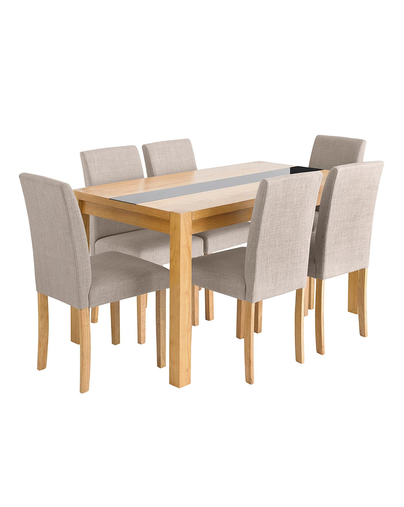 Brilliant Oakham Glass Panel Dining Table 6 Chairs Download Free Architecture Designs Intelgarnamadebymaigaardcom