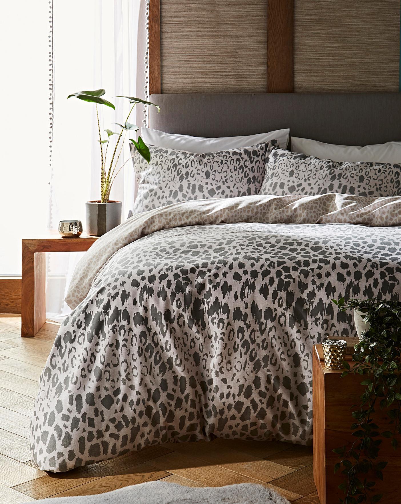 leopard print double duvet covers