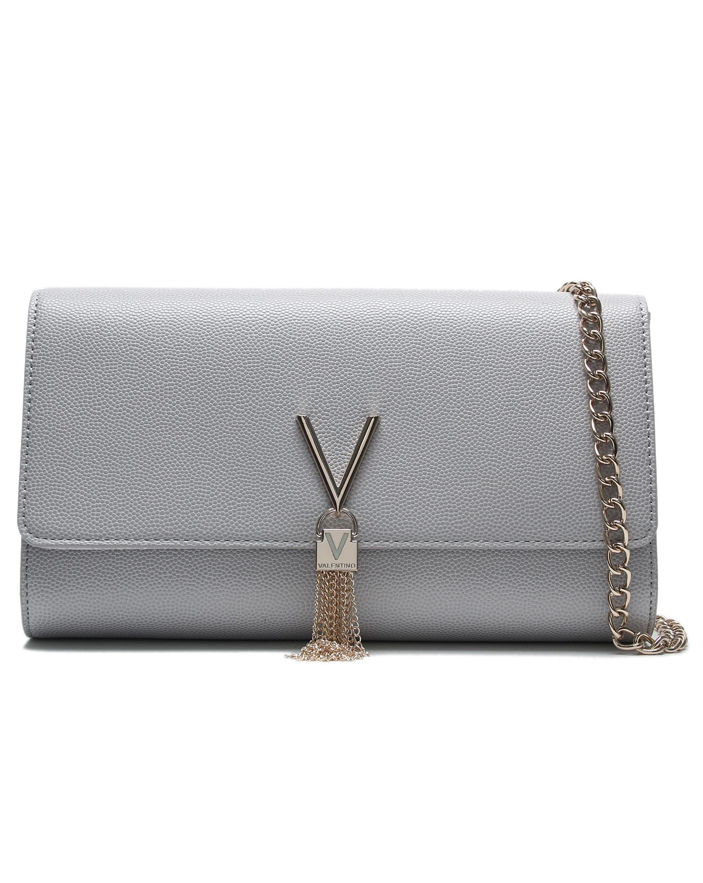 top-rated fashion good reputation info for Mario Valentino Divina Pebbled Clutch