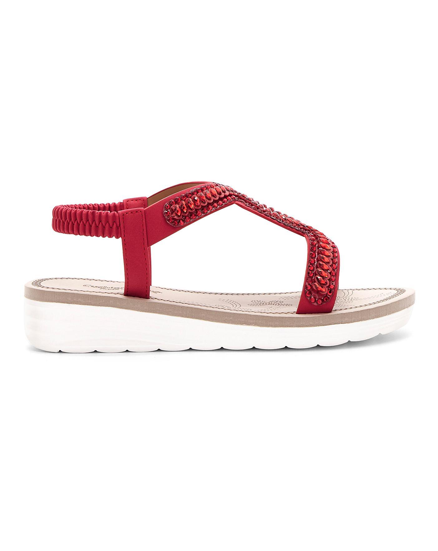 Cushion Walk Embellished Sandals EEE