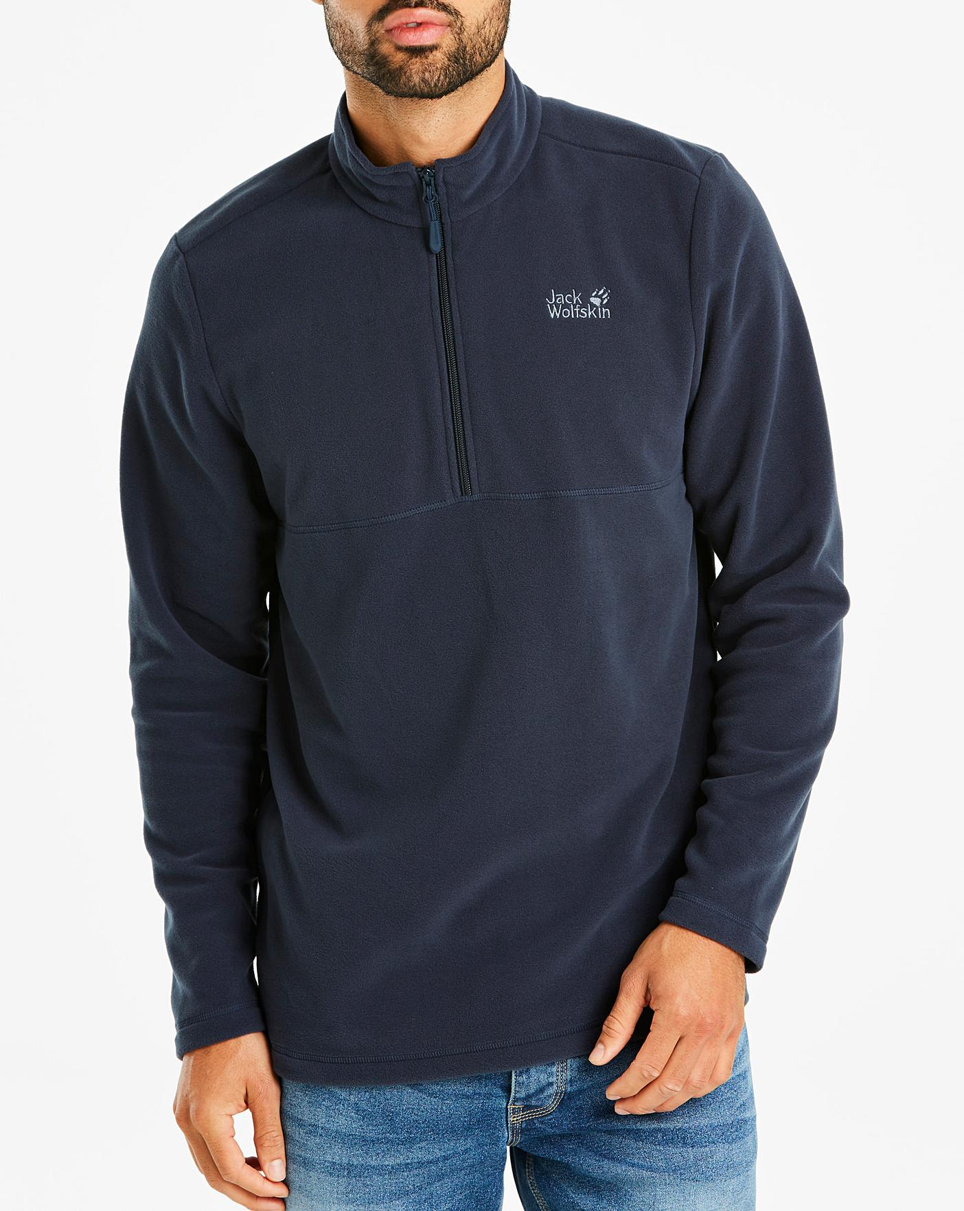 more photos 98a1b add89 Jack Wolfskin Navy Gecko 1/2 Zip Fleece