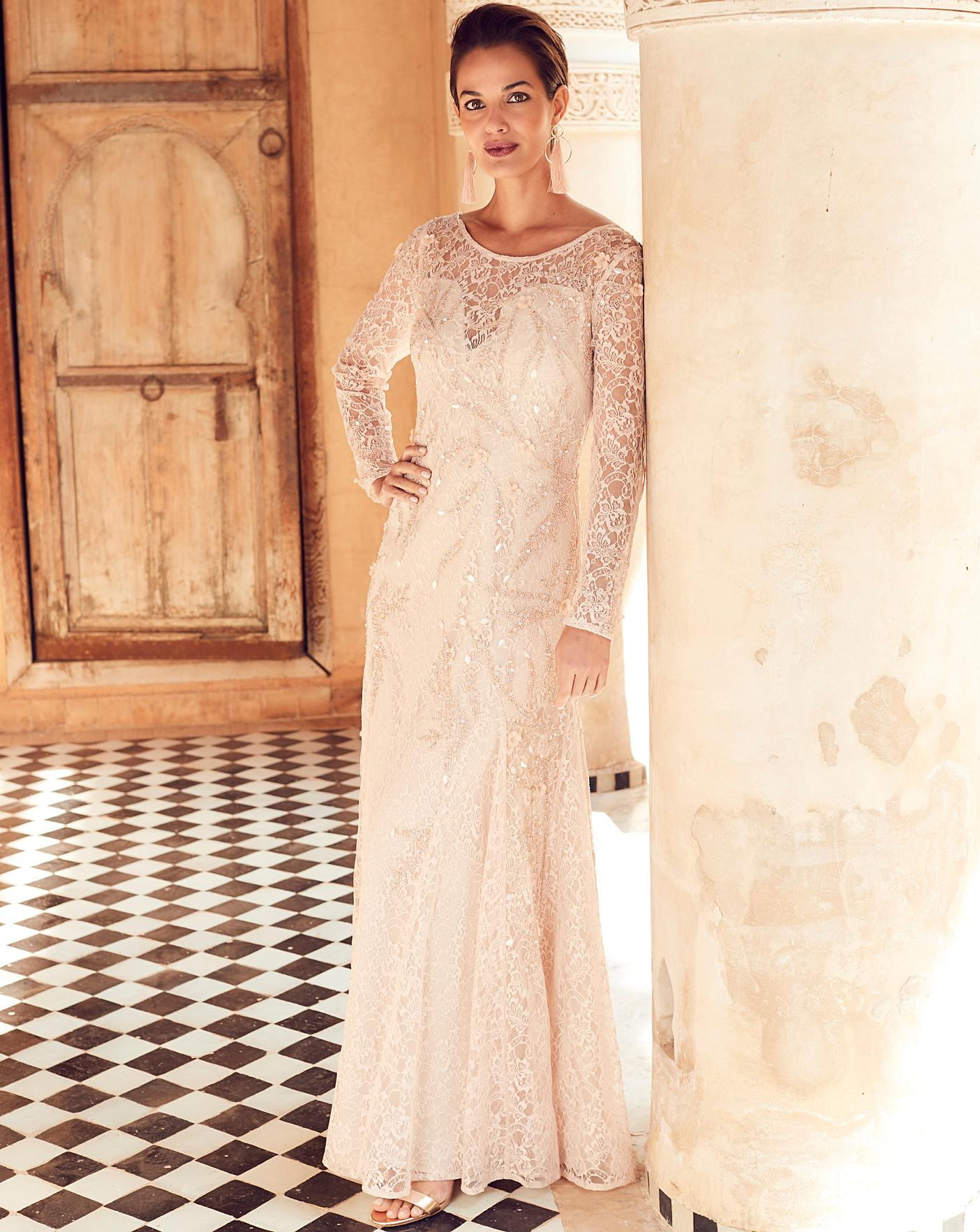 Joanna Hope Lace Beaded Maxi Dress Marisota