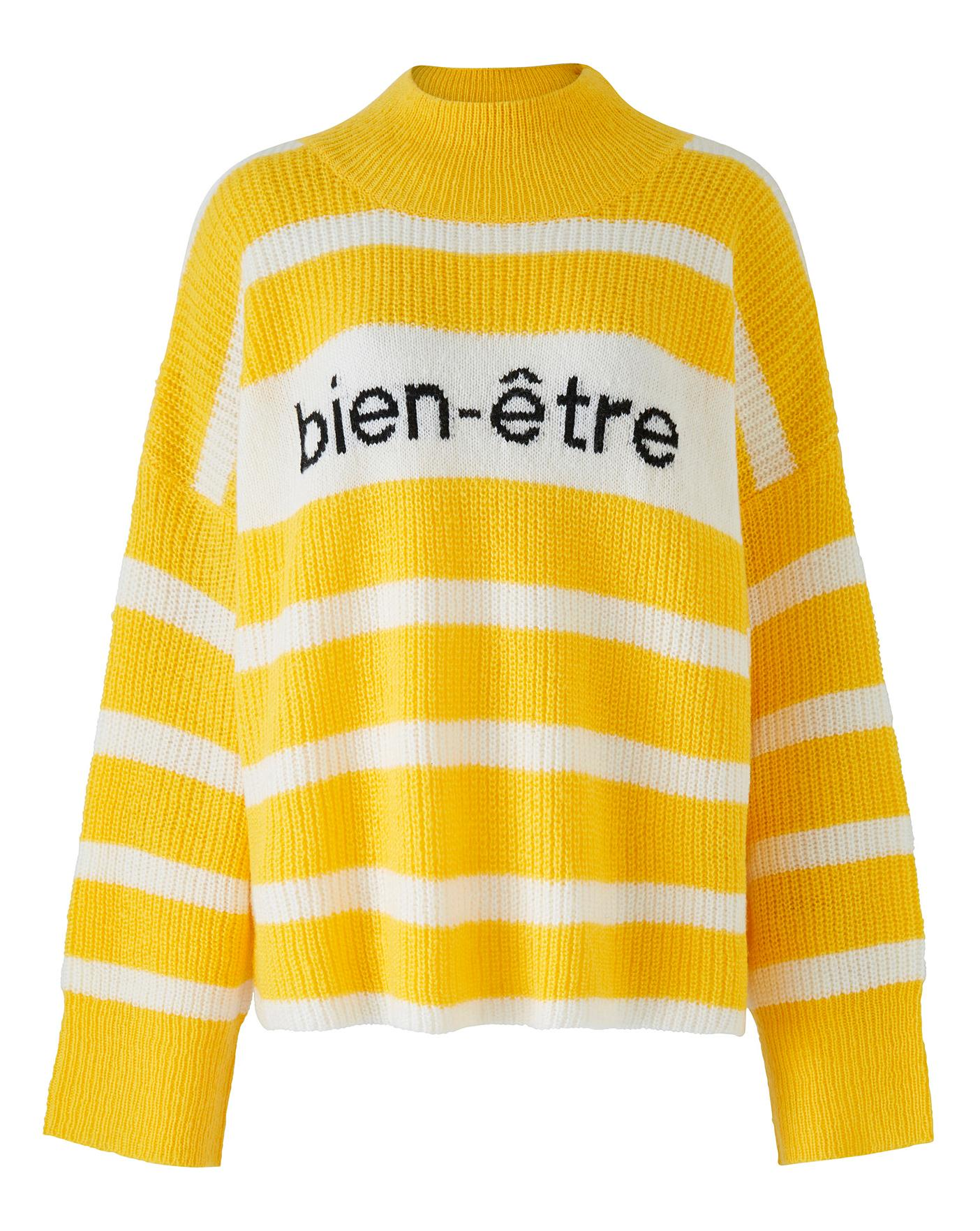 Neon Rose Striped Slogan Jumper Crazy Clearance