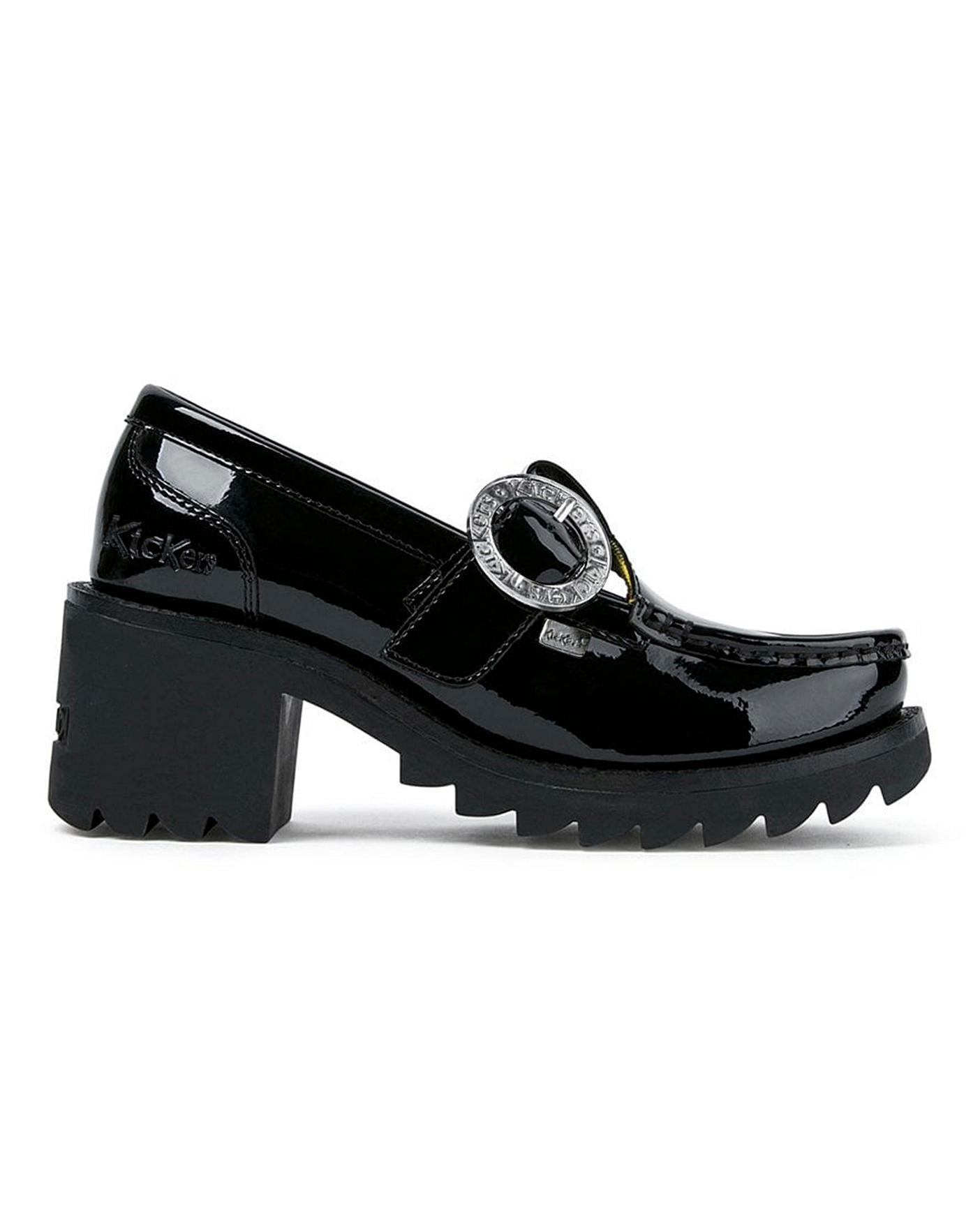 Kickers T-Bar Buckle Shoes | Jacamo