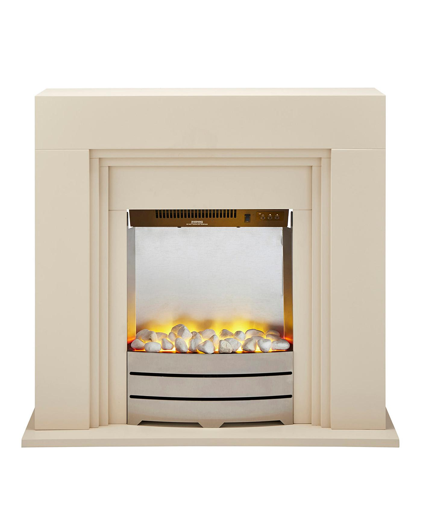 Beldray Ivory Electric Fire Suite Marisota