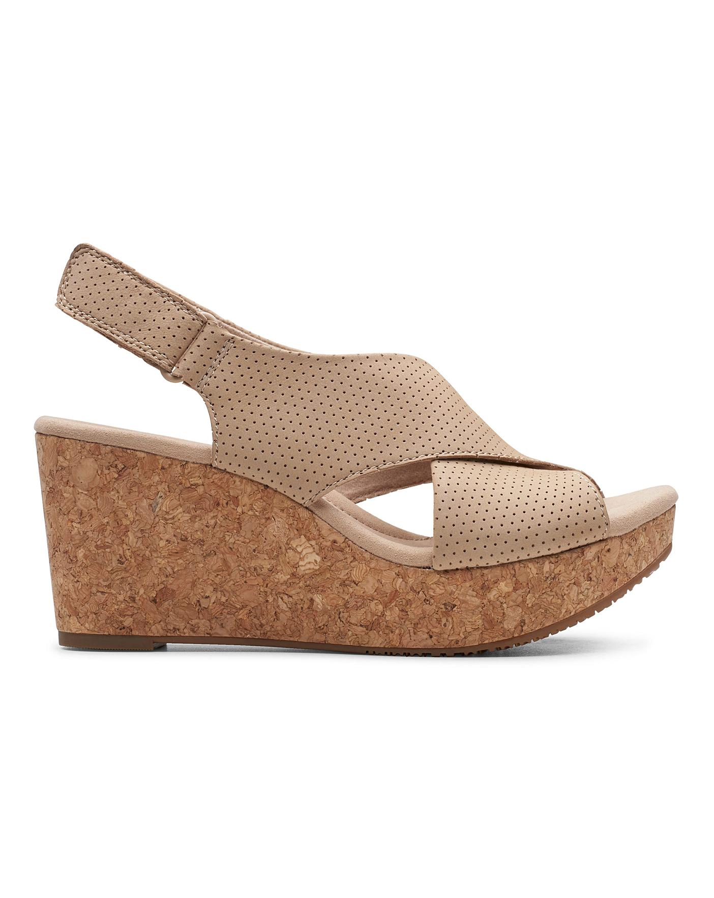 Clarks Wedge Sandals   Oxendales