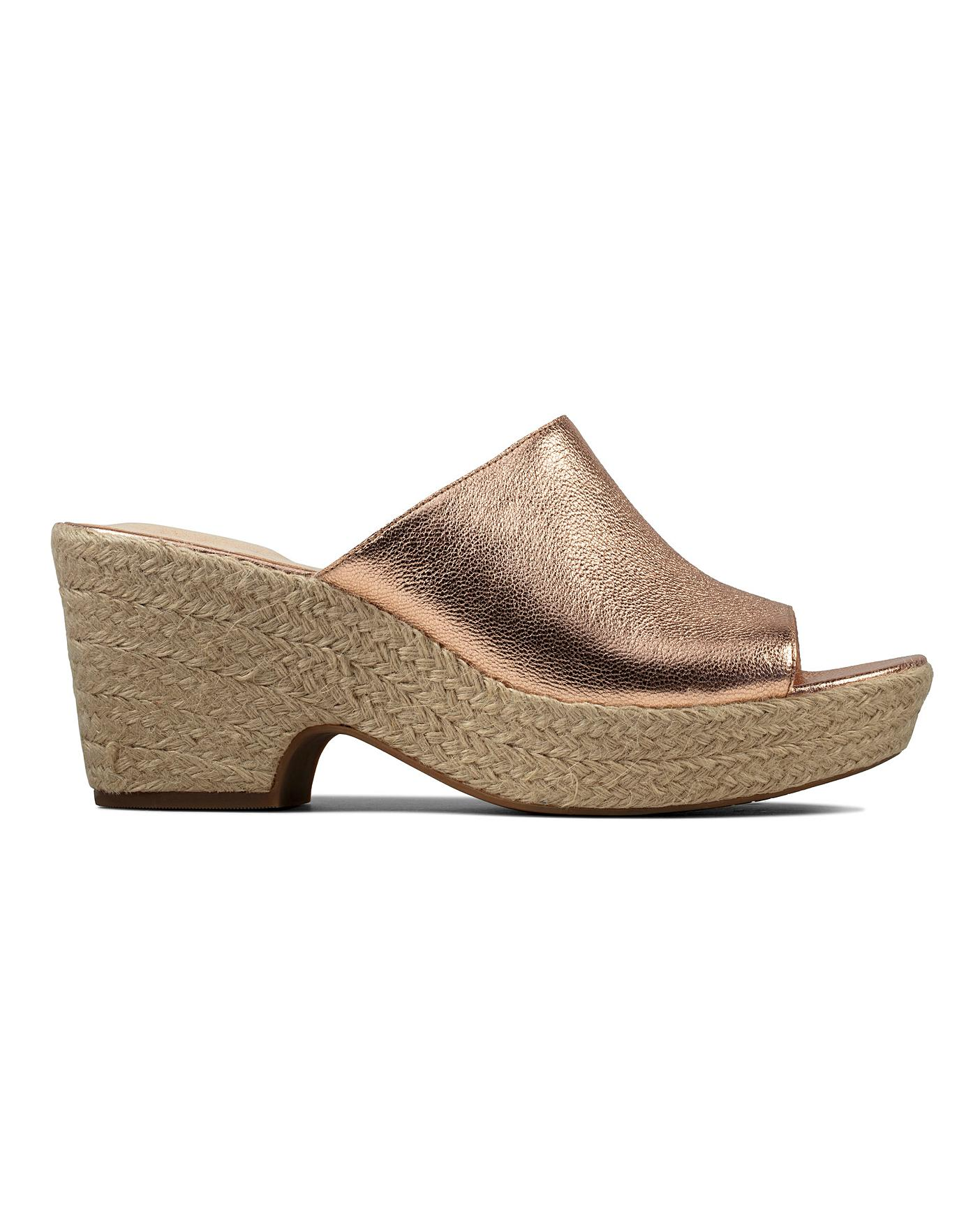 Clarks Wedge Sandals | Simply Be