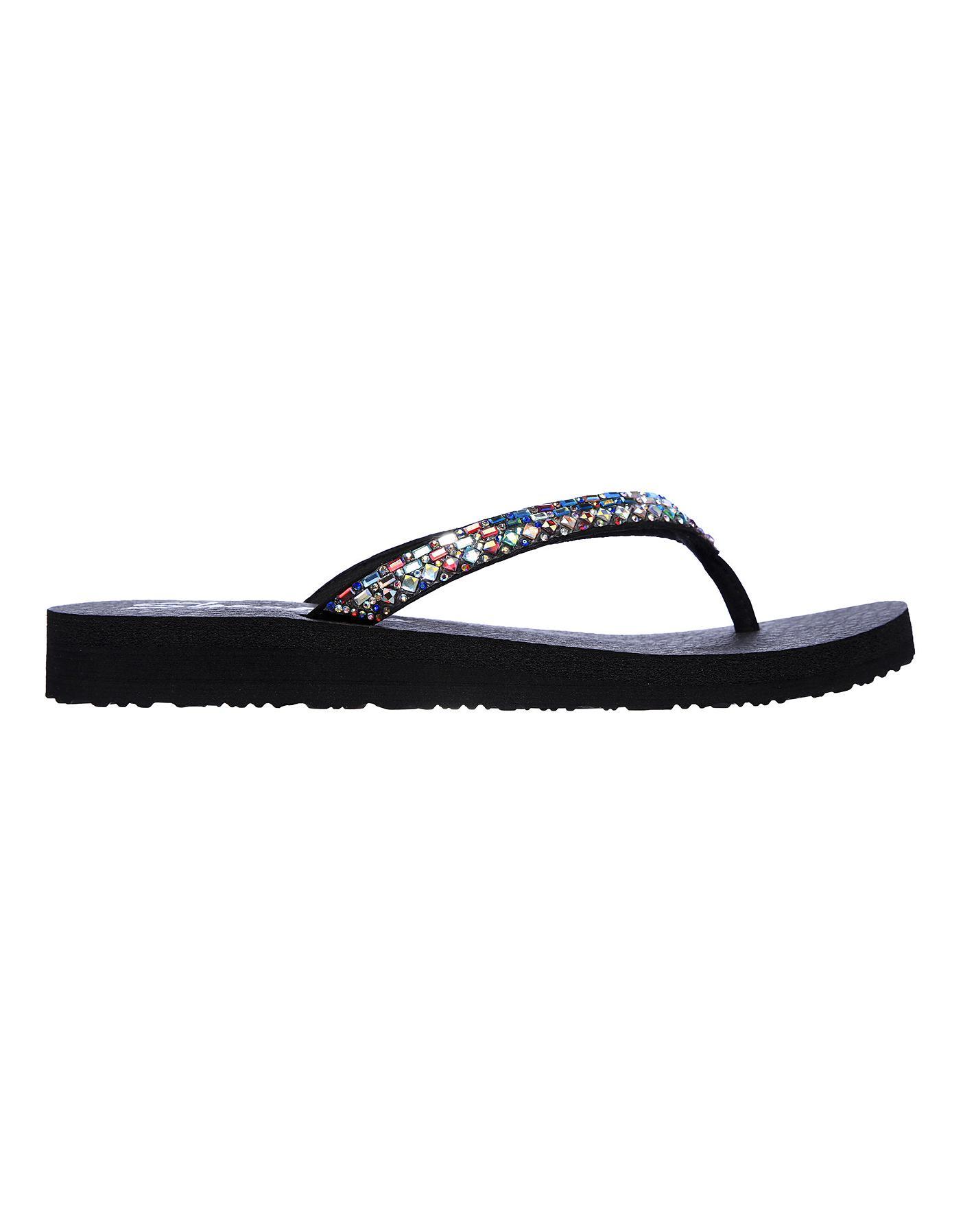 Skechers Toe Post Sandals   J D Williams