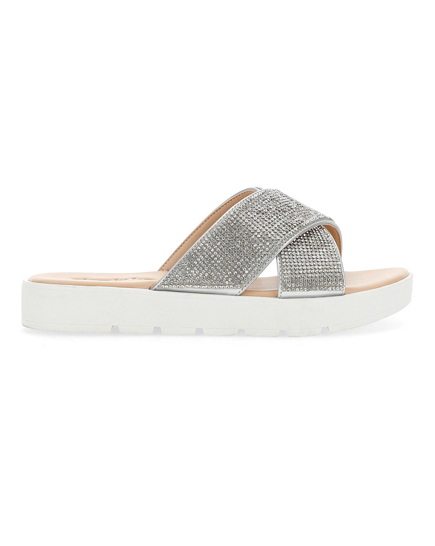 Dayton Diamante Sandals Wide Fit