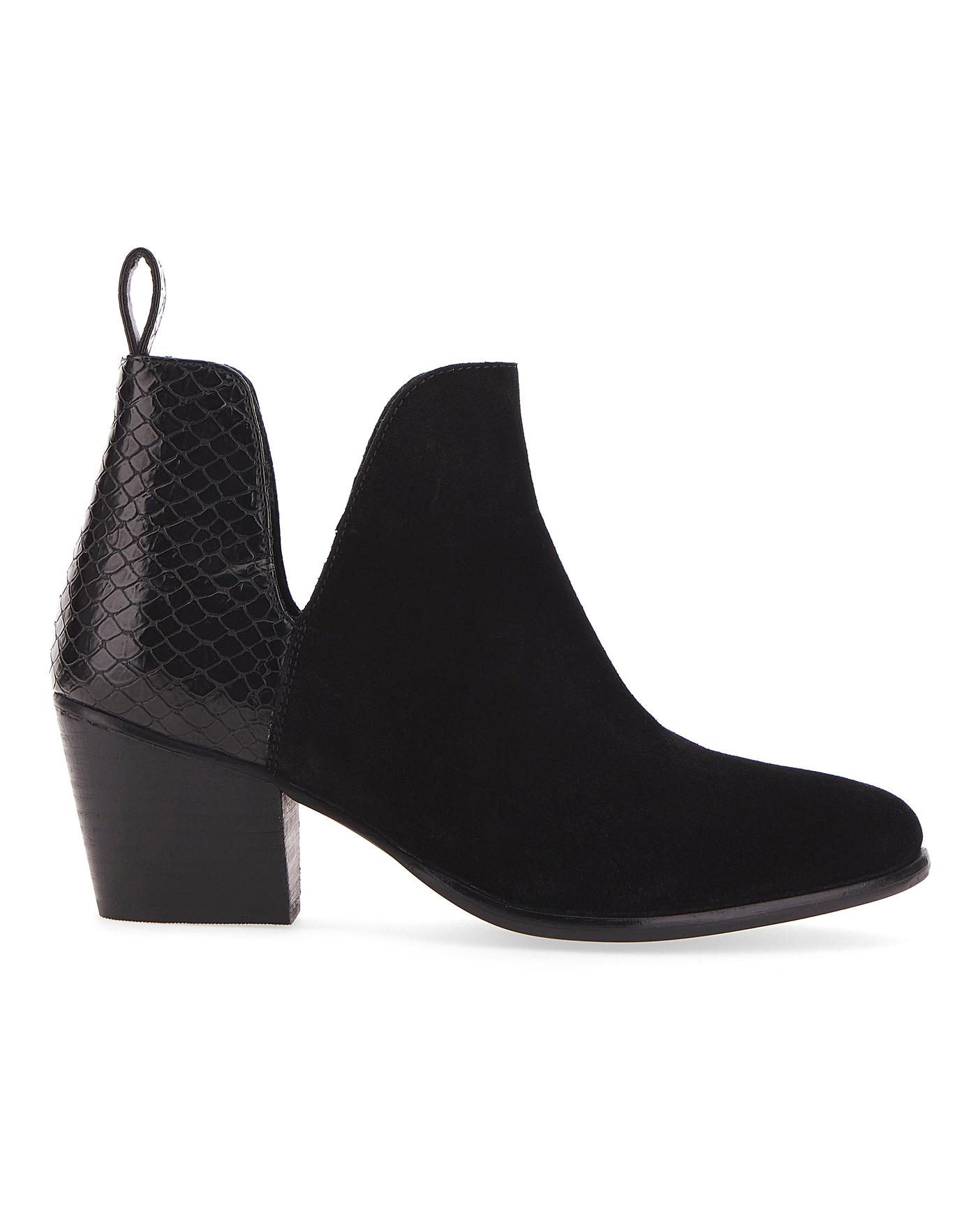 Aster Suede Ankle Boots Wide Fit   Jacamo