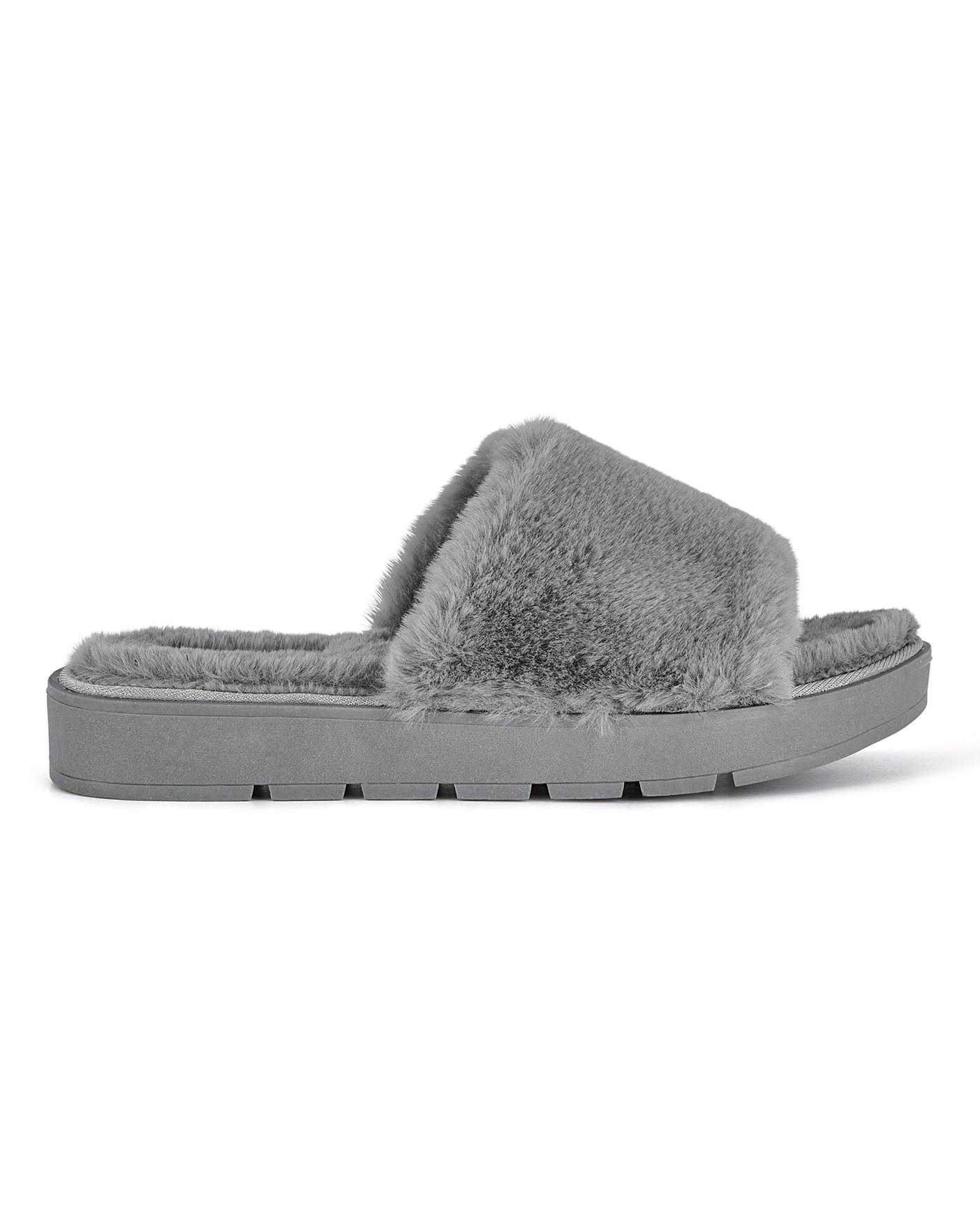 Athena Mule Slippers Wide Fit | J D