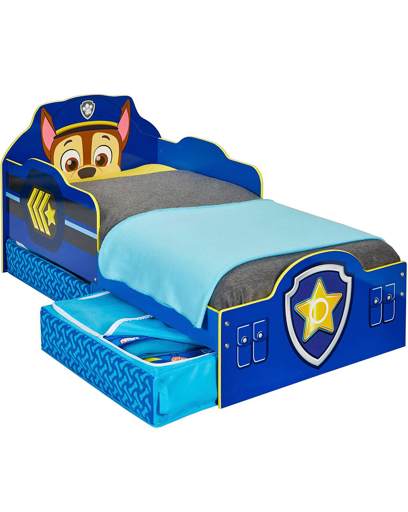 Paw Patrol Chase Toddler Bed And Storage Oxendales