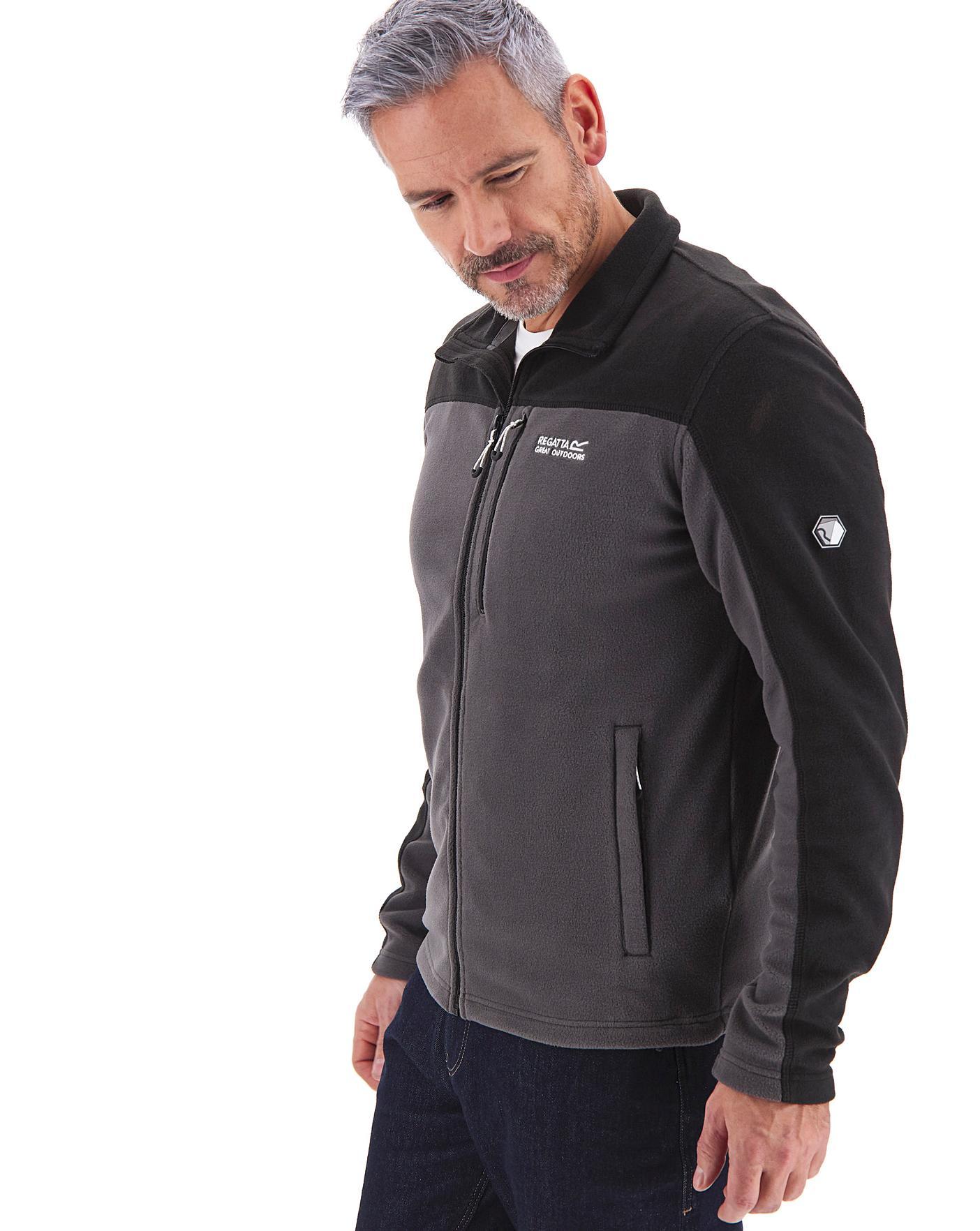 Regatta Mens Fellard Chest Pocket Full Zip Symmetry Fleece