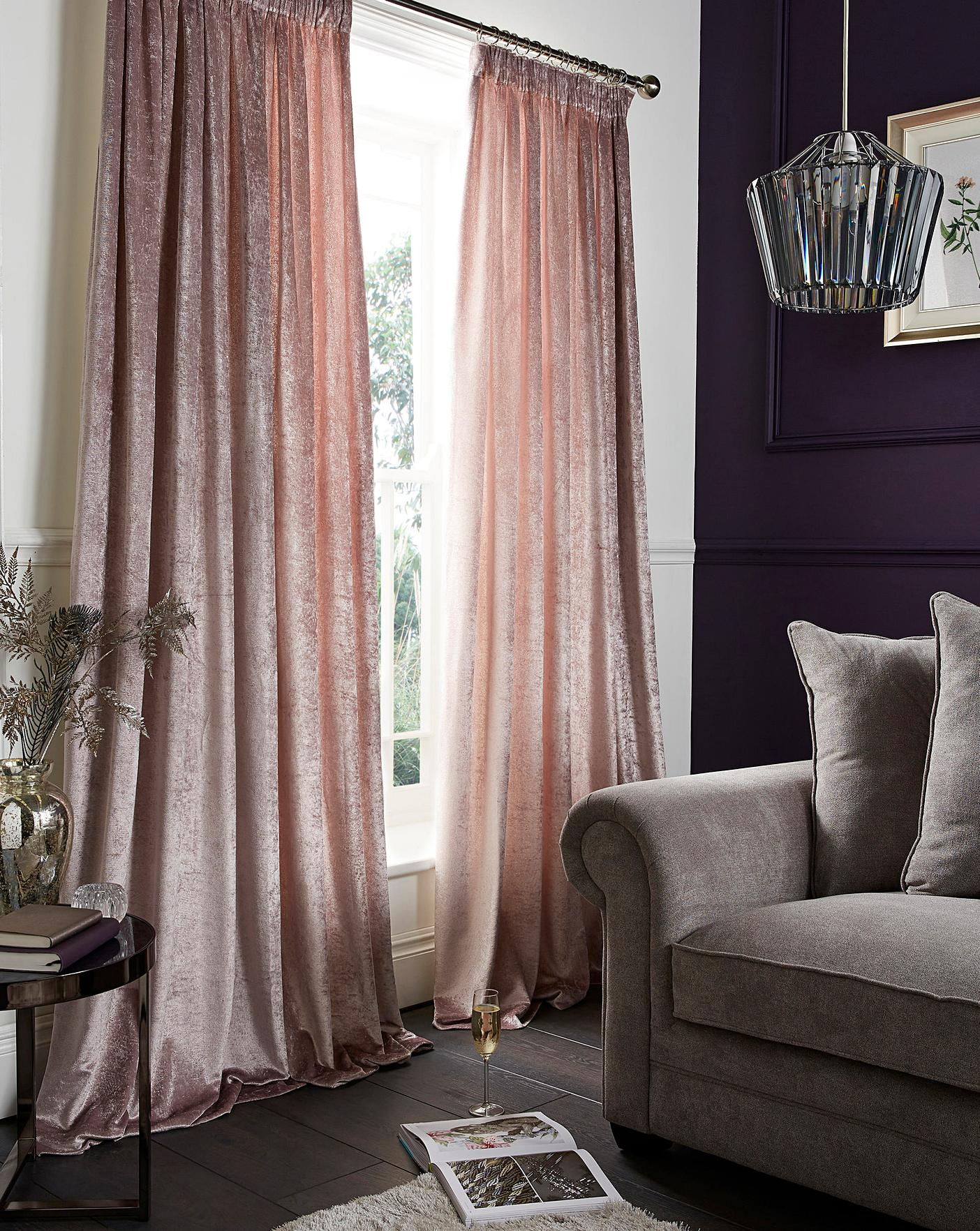 Crushed Velvet Pencil Pleat Curtains Oxendales