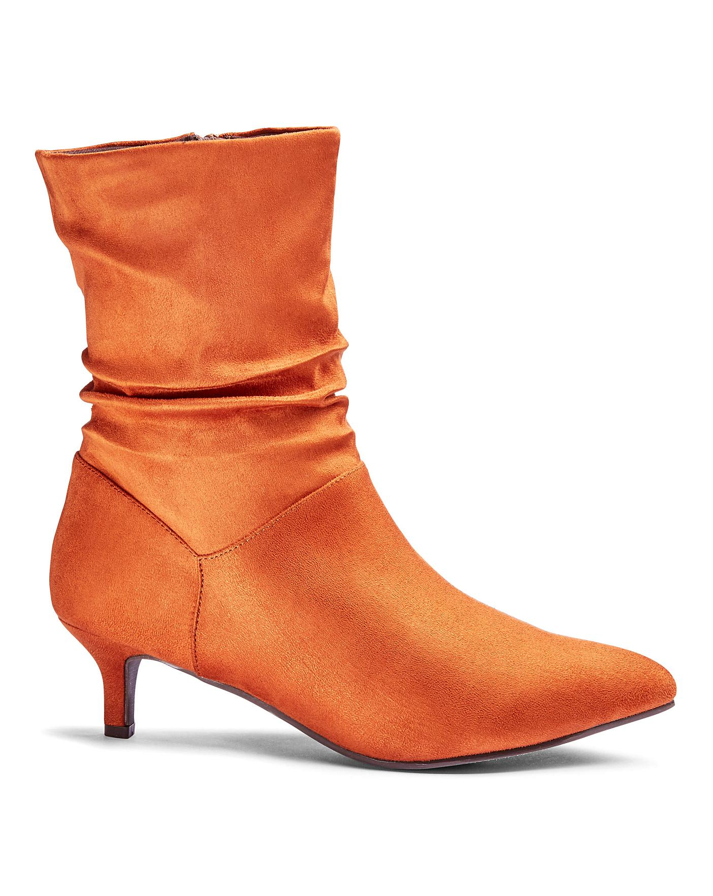 best selling for whole family factory outlets Flexi Sole Ruched Ankle Boots E Fit | Simply Be