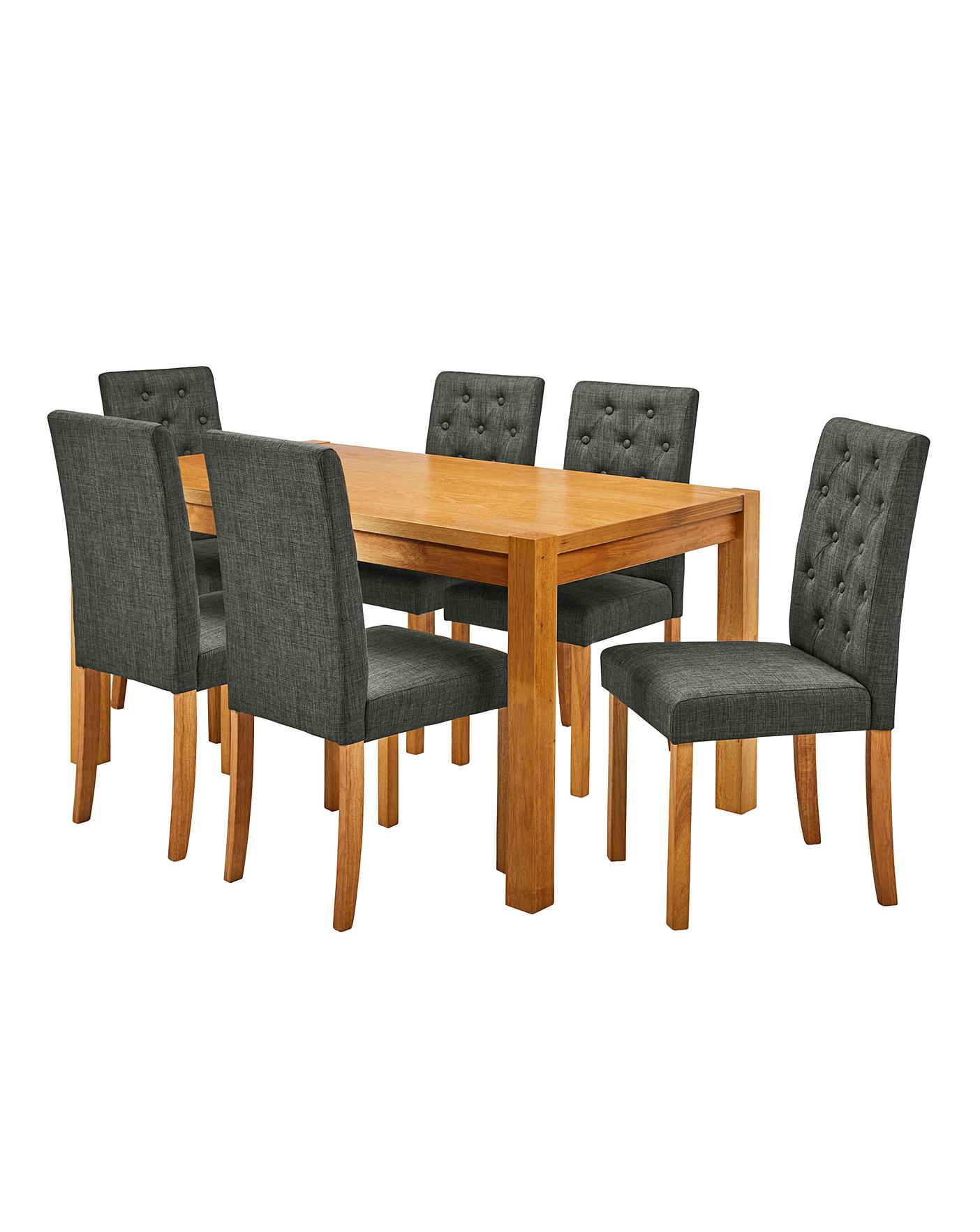 Awesome Oakham Table 6 Grace Fabric Chairs Andrewgaddart Wooden Chair Designs For Living Room Andrewgaddartcom