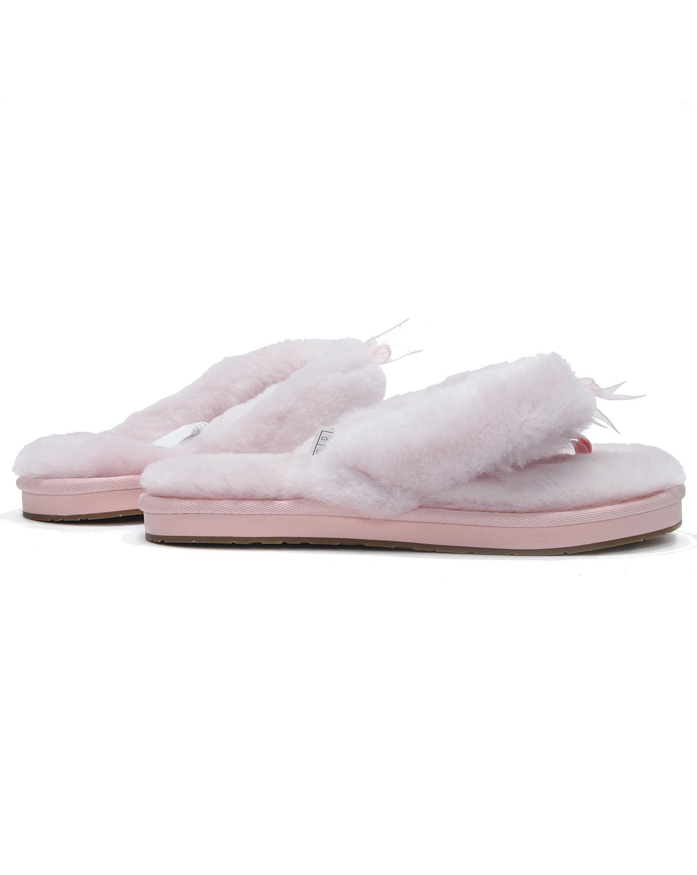 76124673bfe0 Description. This item is despatched direct from the supplier. UGG Fluff II Flip  Flop Slippers ...