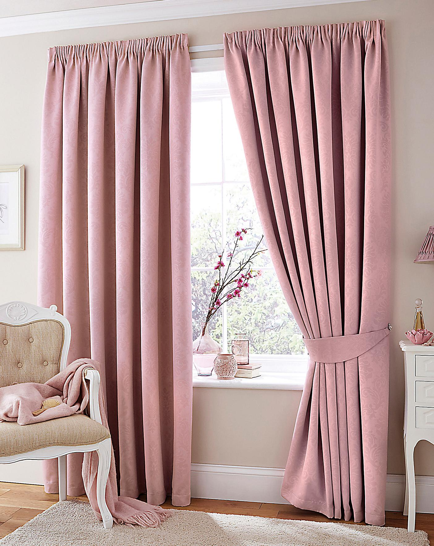 Woven Damask Blackout Curtains Crazy Clearance