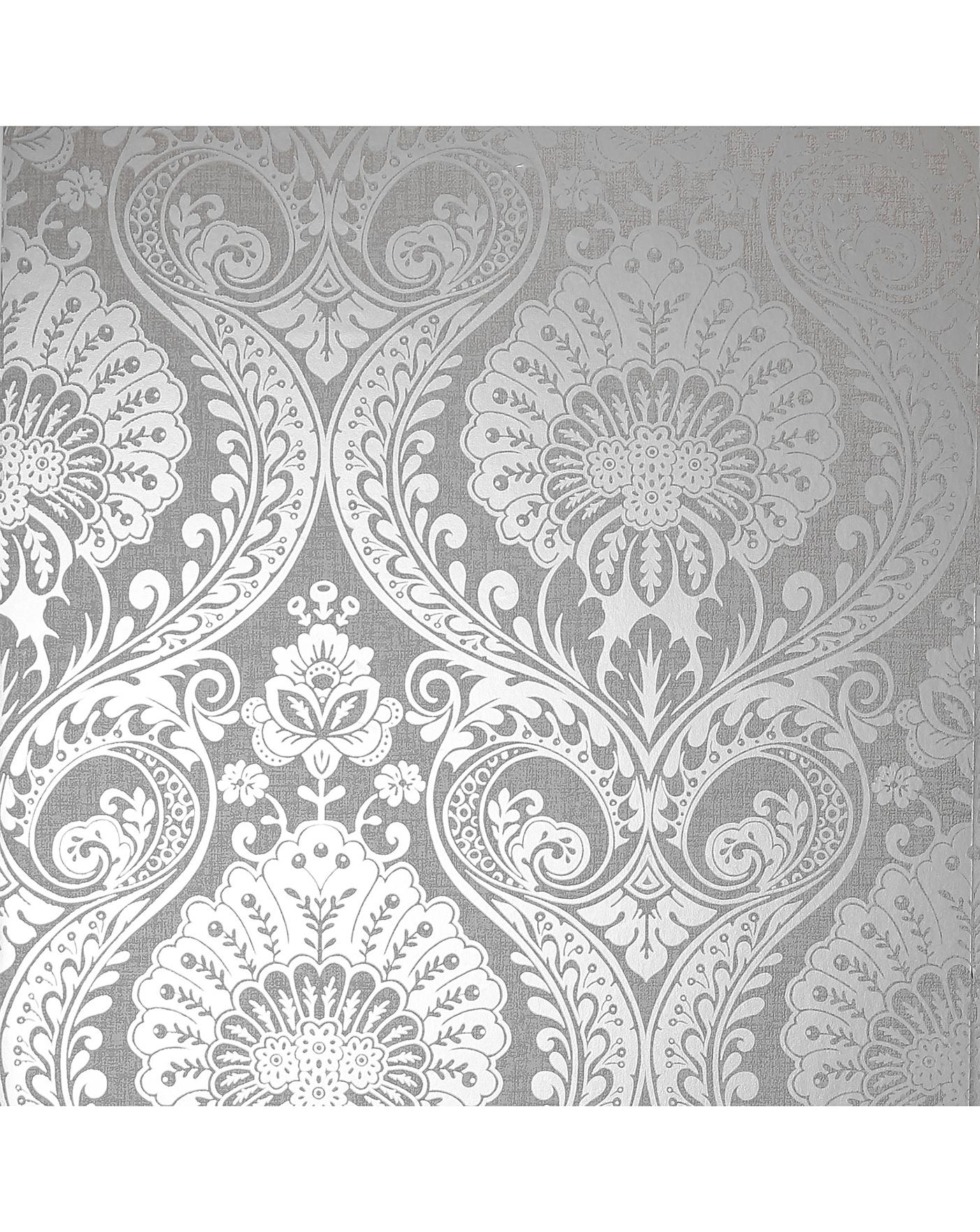 Arthouse Luxe Damask Wp J D Williams