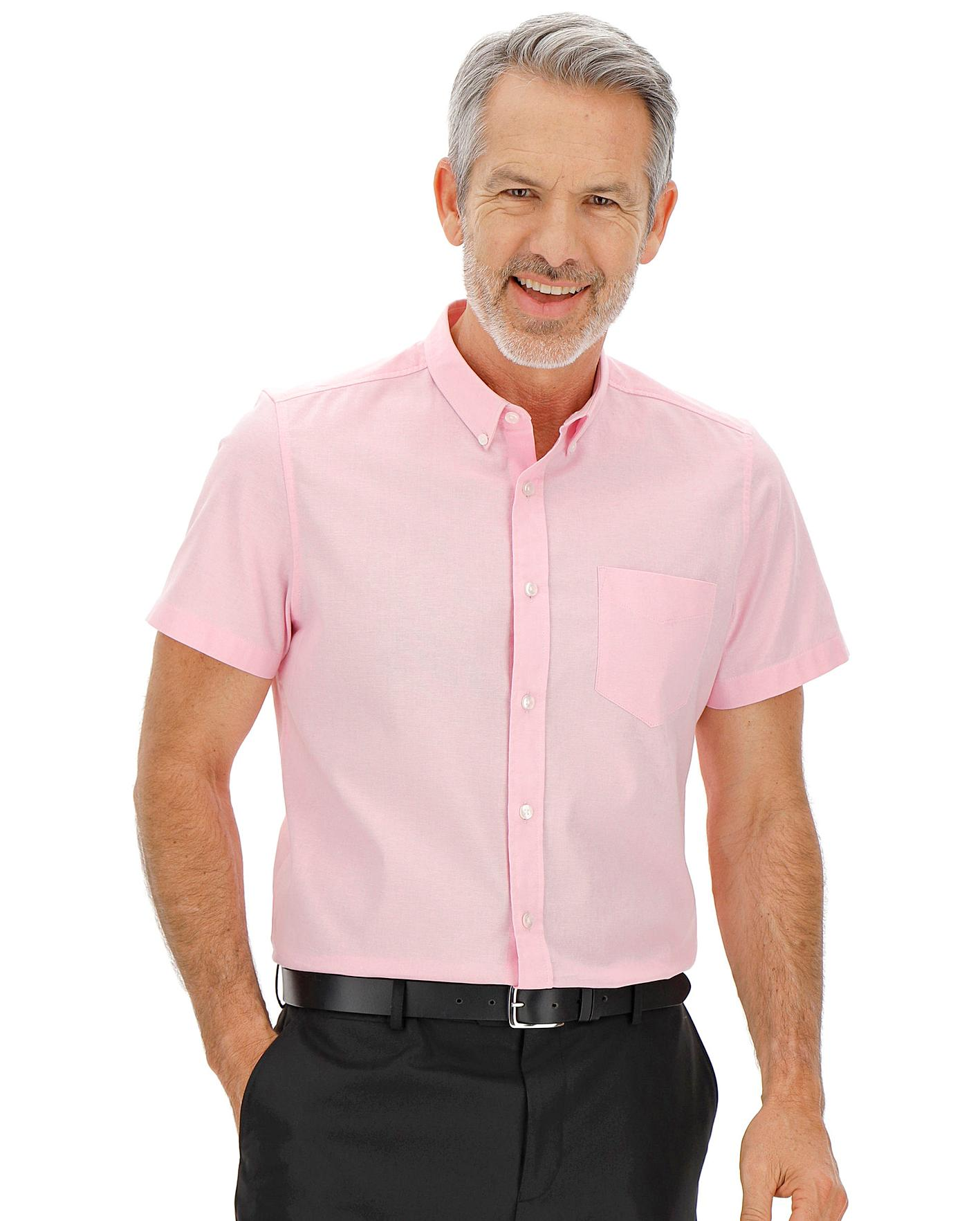 Baby Pink S Stretch Oxford Shirt Long