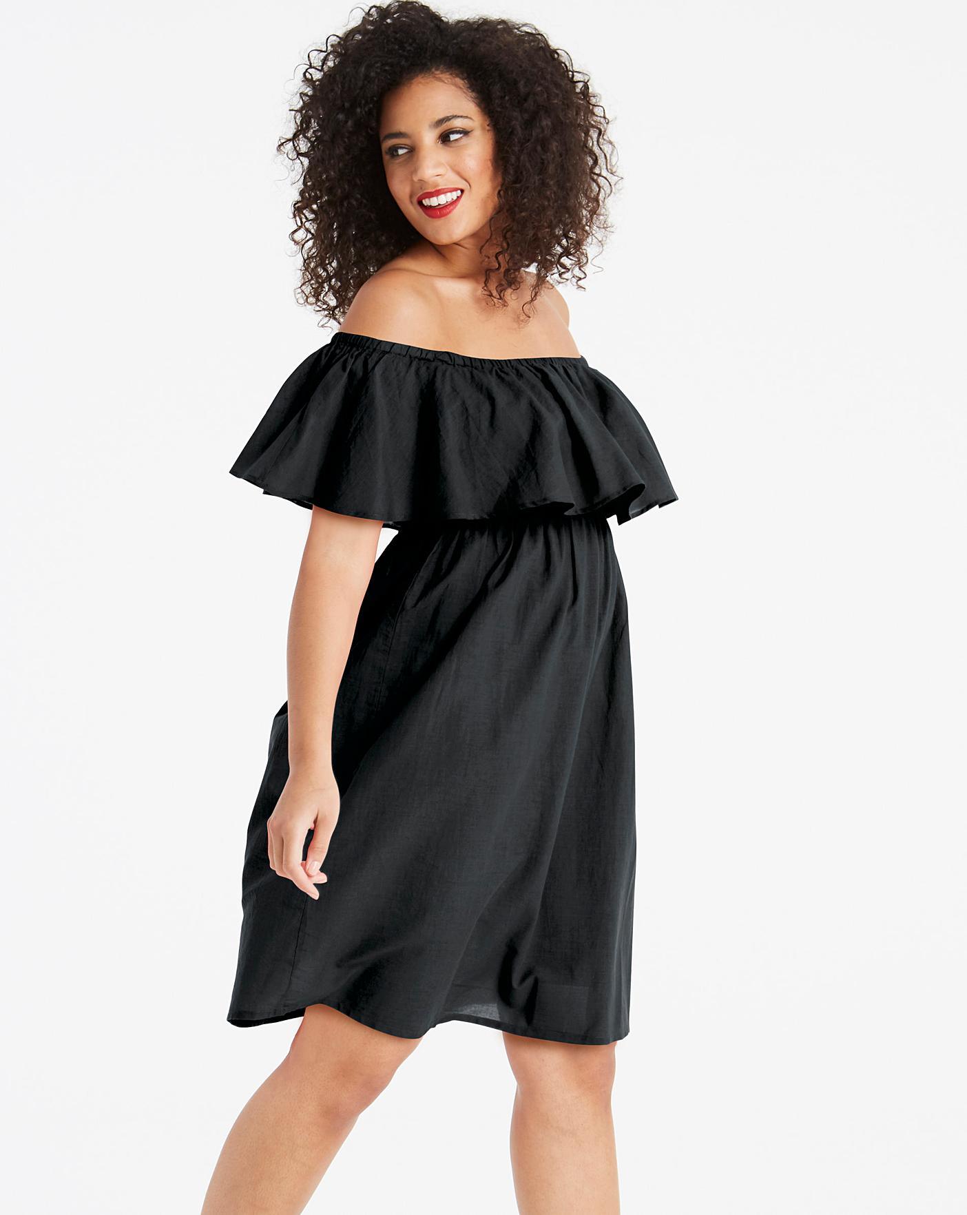 2d5ceb11e9999 Bardot Black Beach Dress | Simply Be
