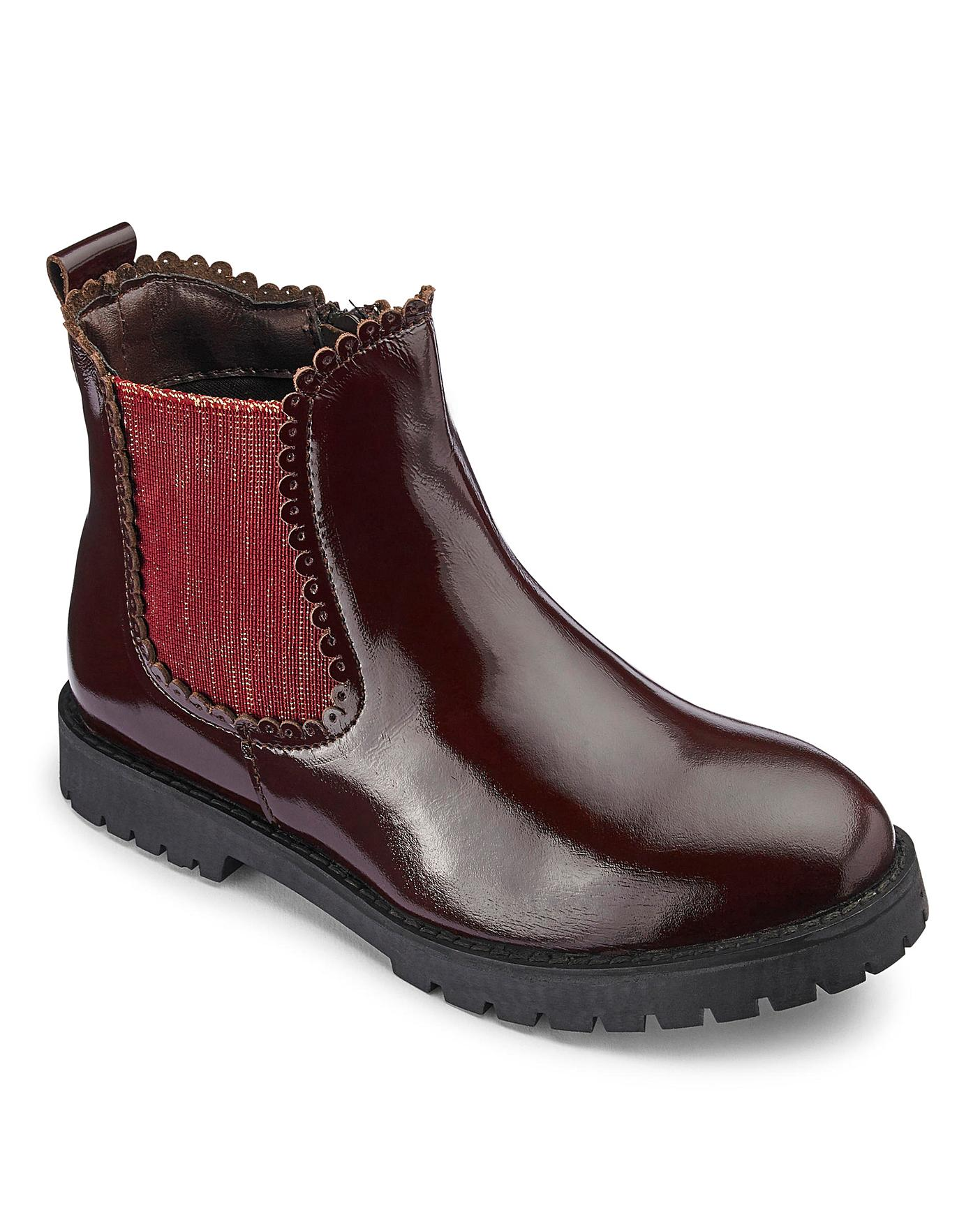 Girls Patent Chelsea Boots   Oxendales