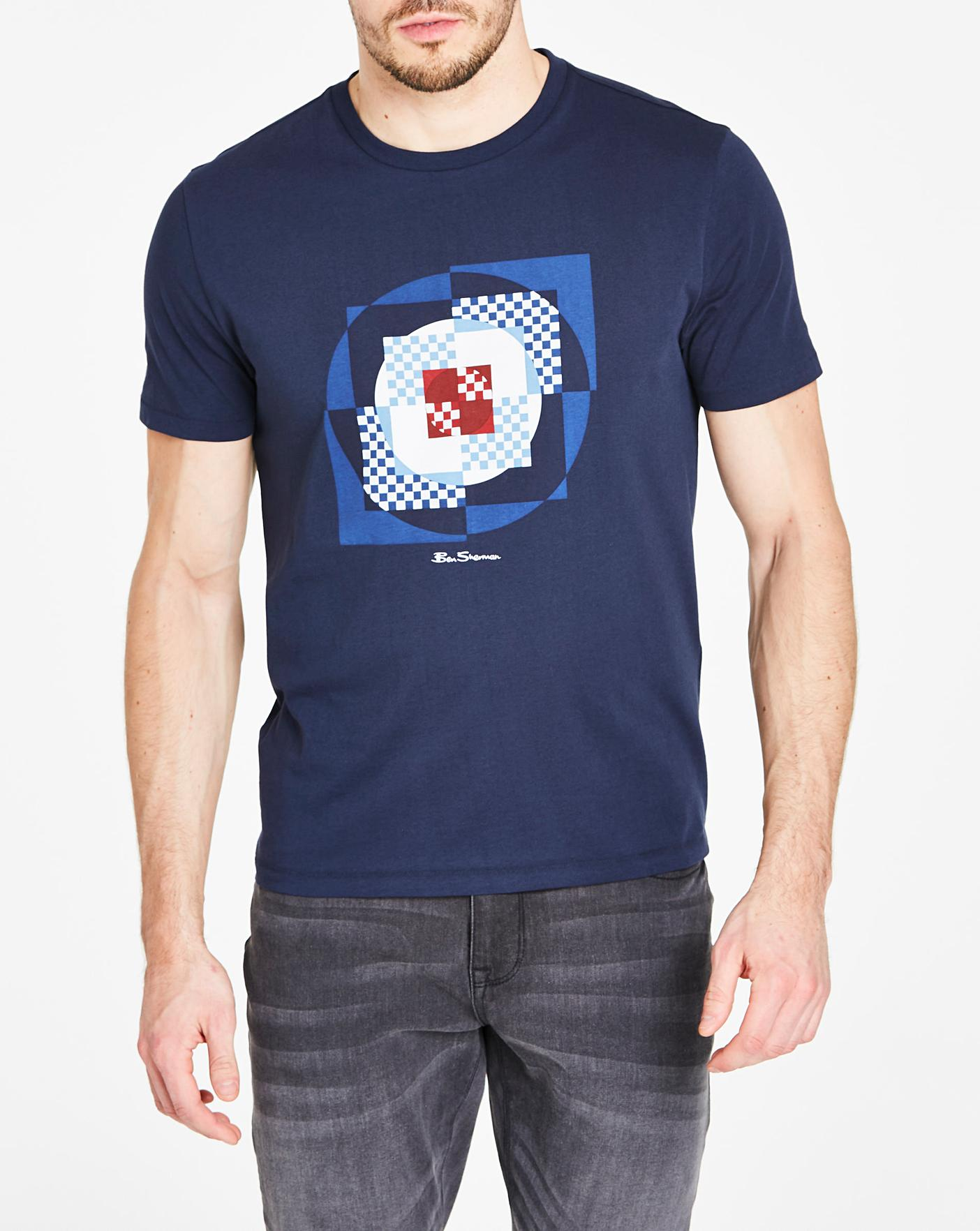 seda Insatisfecho Sin lugar a dudas  Ben Sherman Square Target T-Shirt | Oxendales